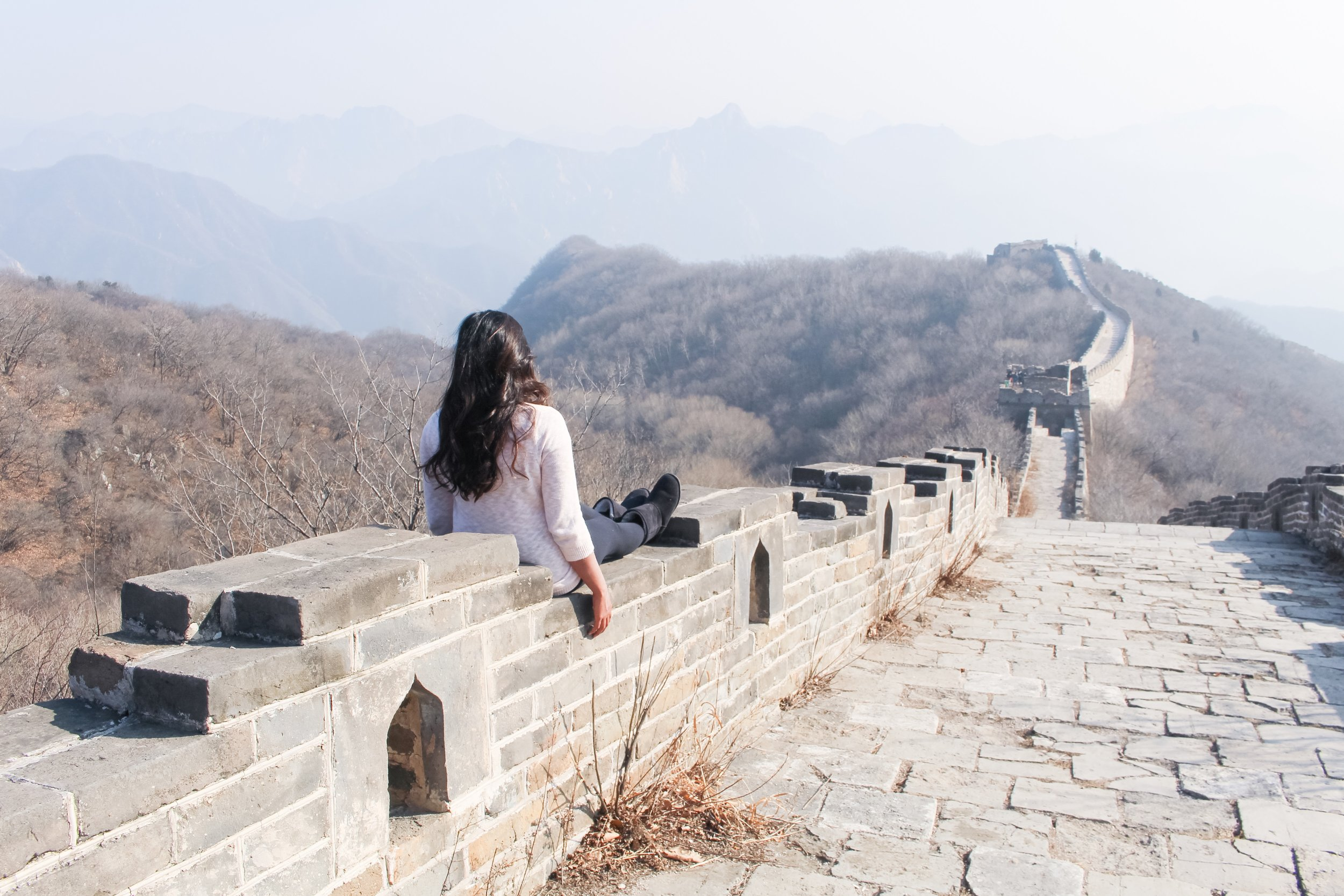 THE GREAT WALL OF CHINA:   MUTIANYU SECTION IN BEIJING, CHINA