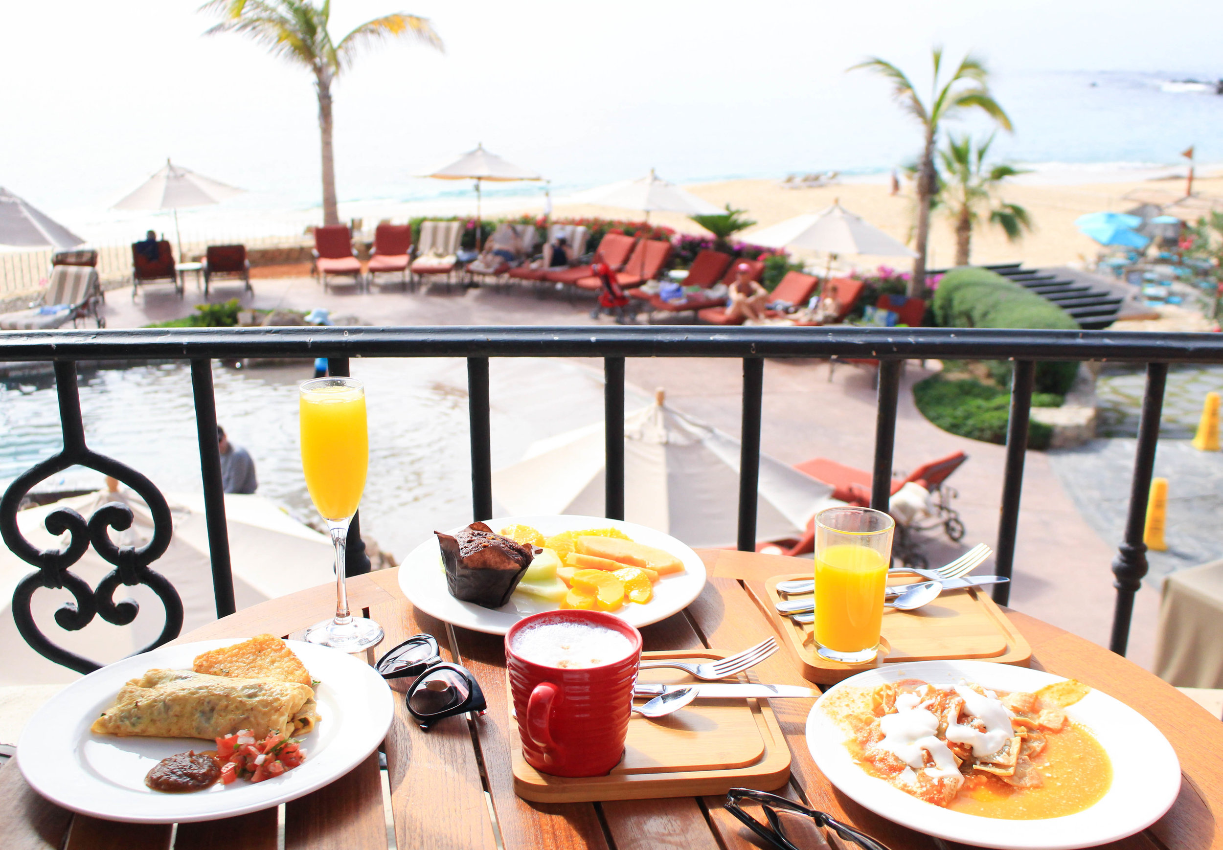 breakfast at the Luxurious Sheraton Grand Los Cabos