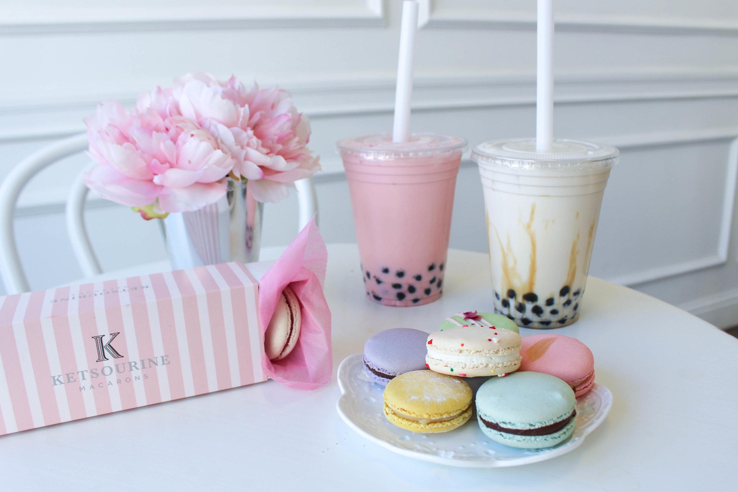Ketsourine Macarons and bubble tea in San Francisco