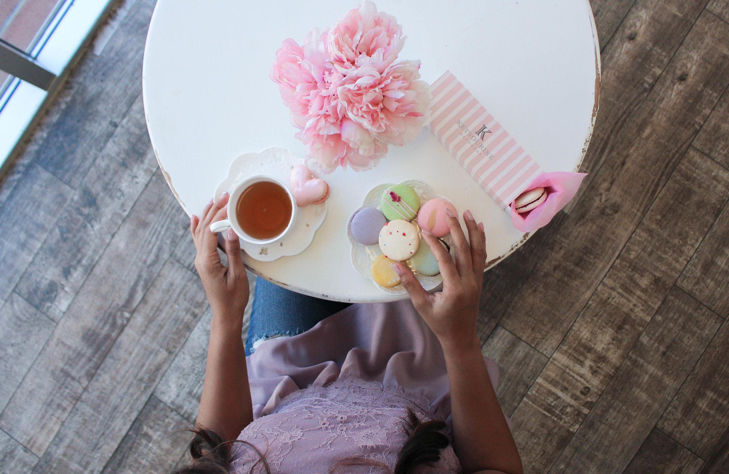 Ketsourine Macarons and tea in San Francisco