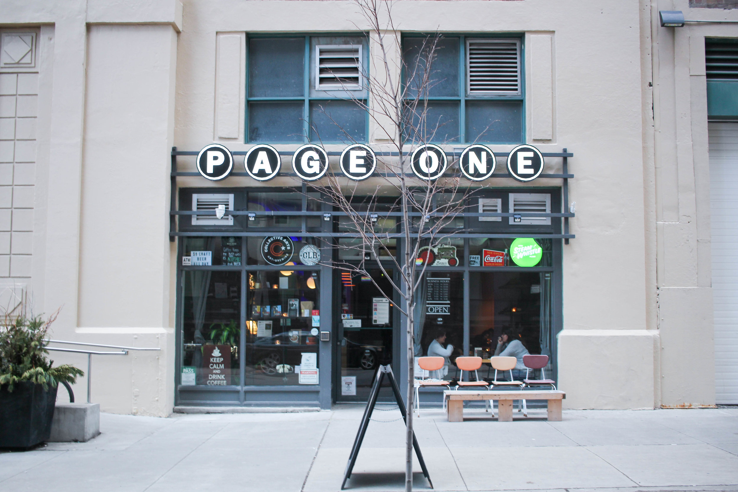 page one cafe in toronto