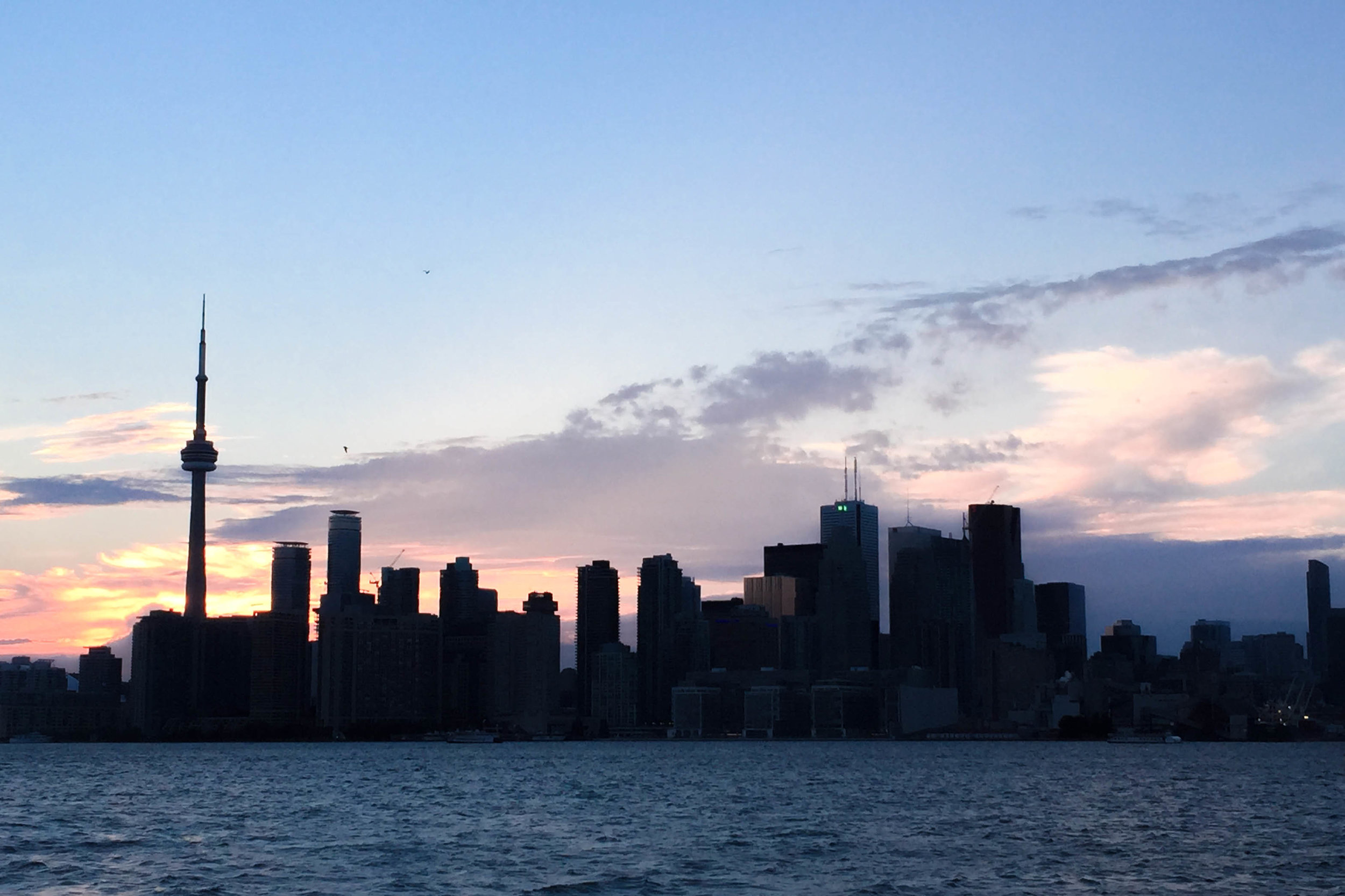 The best view of Toronto's skyline is from a ferry on Lake Ontario en route to the Toronto Islands