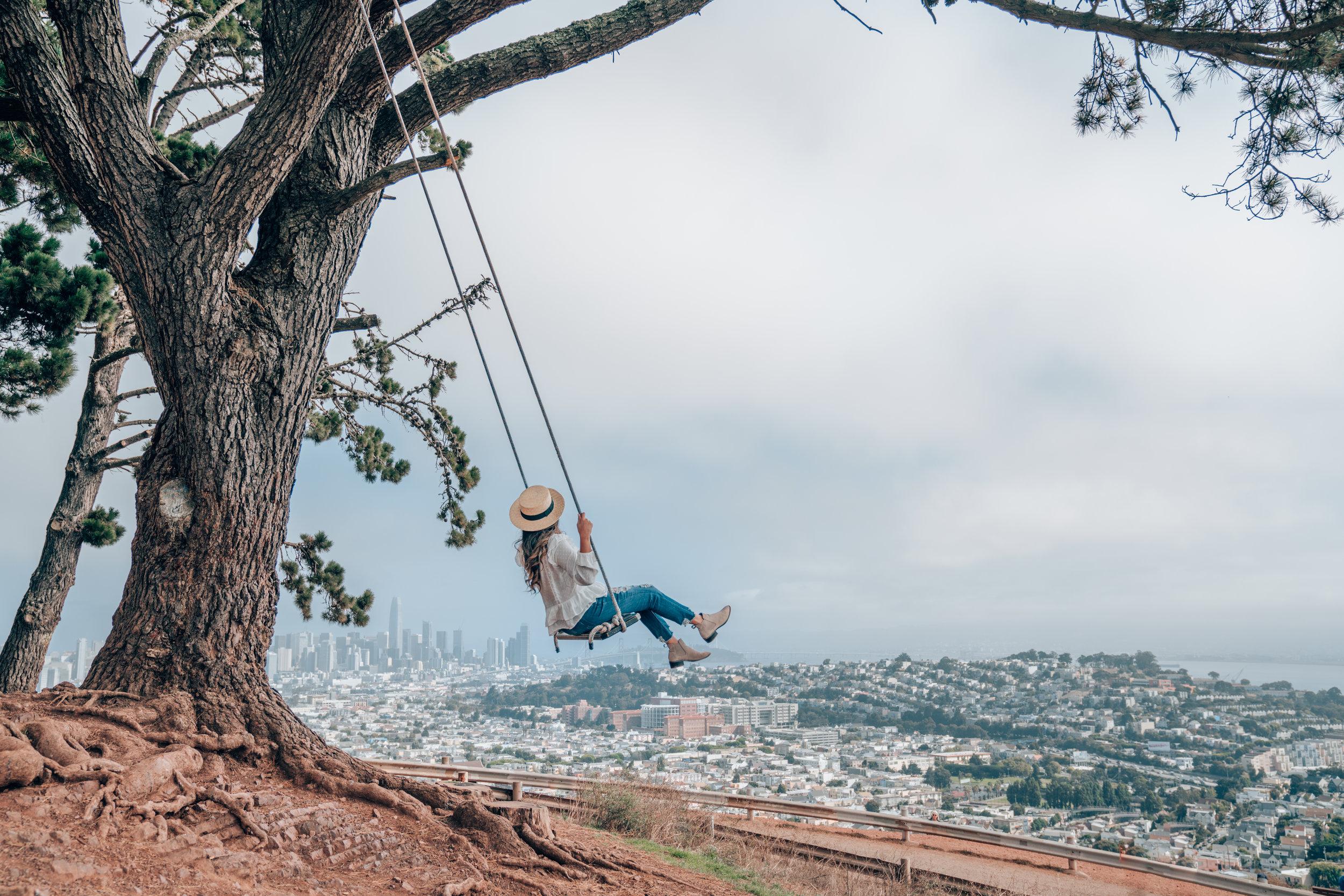 Bernal Heights Swing at Bernal Heights Park, San Francisco, California