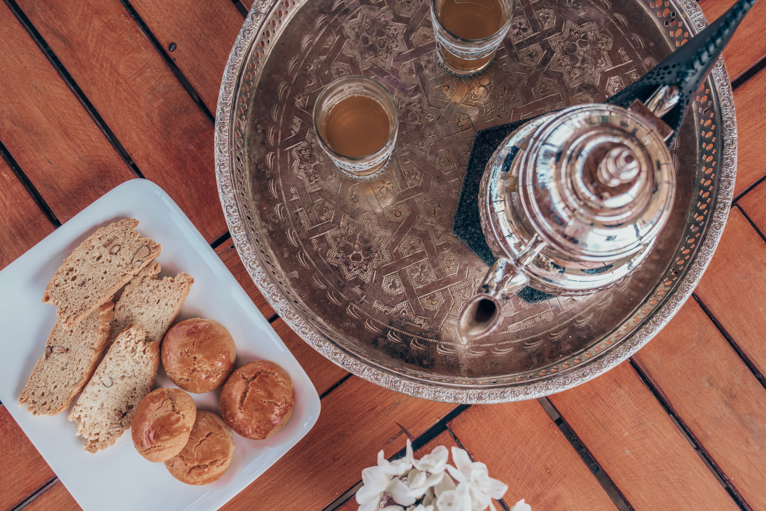 Riad Anata Moroccan Mint Tea and Cookies