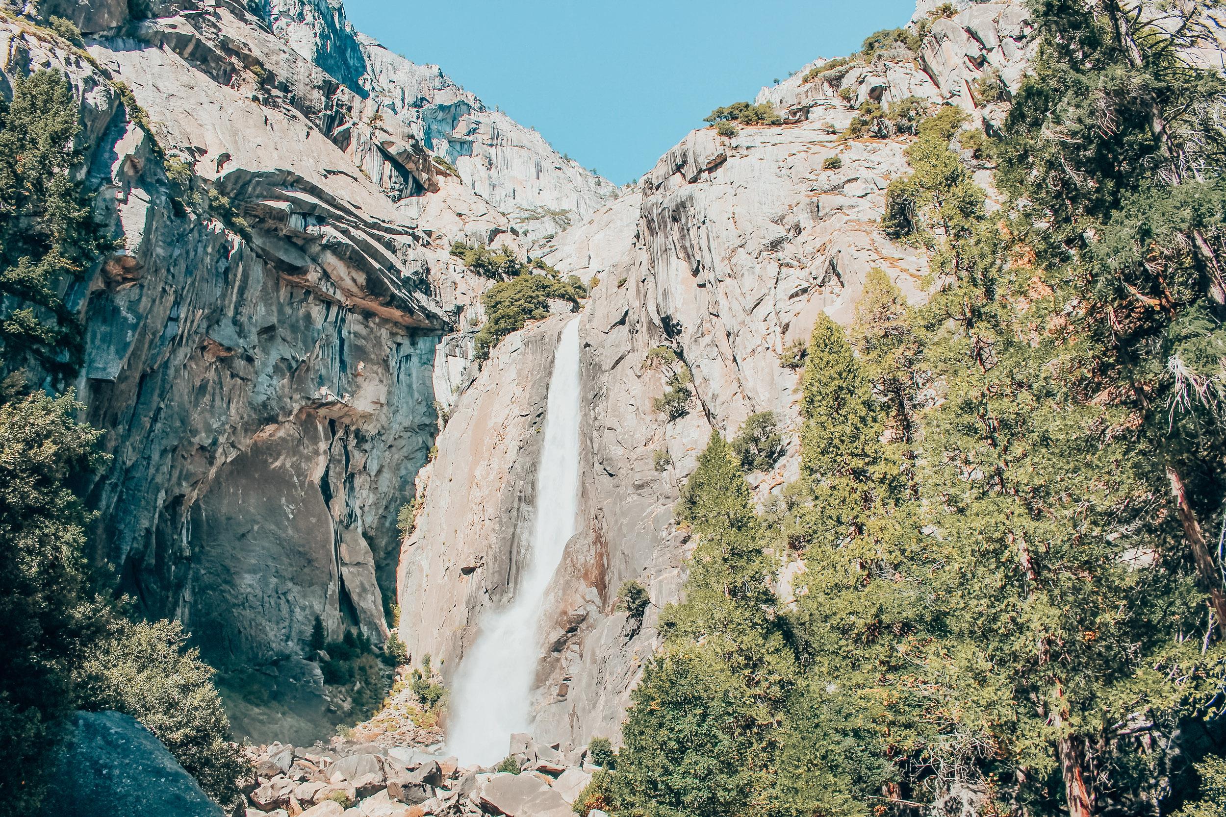 Yosemite Falls in autumn at Yosemite National Park