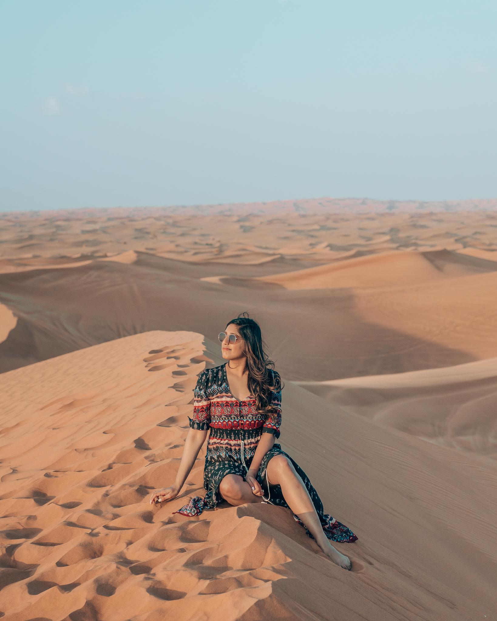 Red Sand Dunes, Dubai Desert Safari Tour, United Arab Emirates