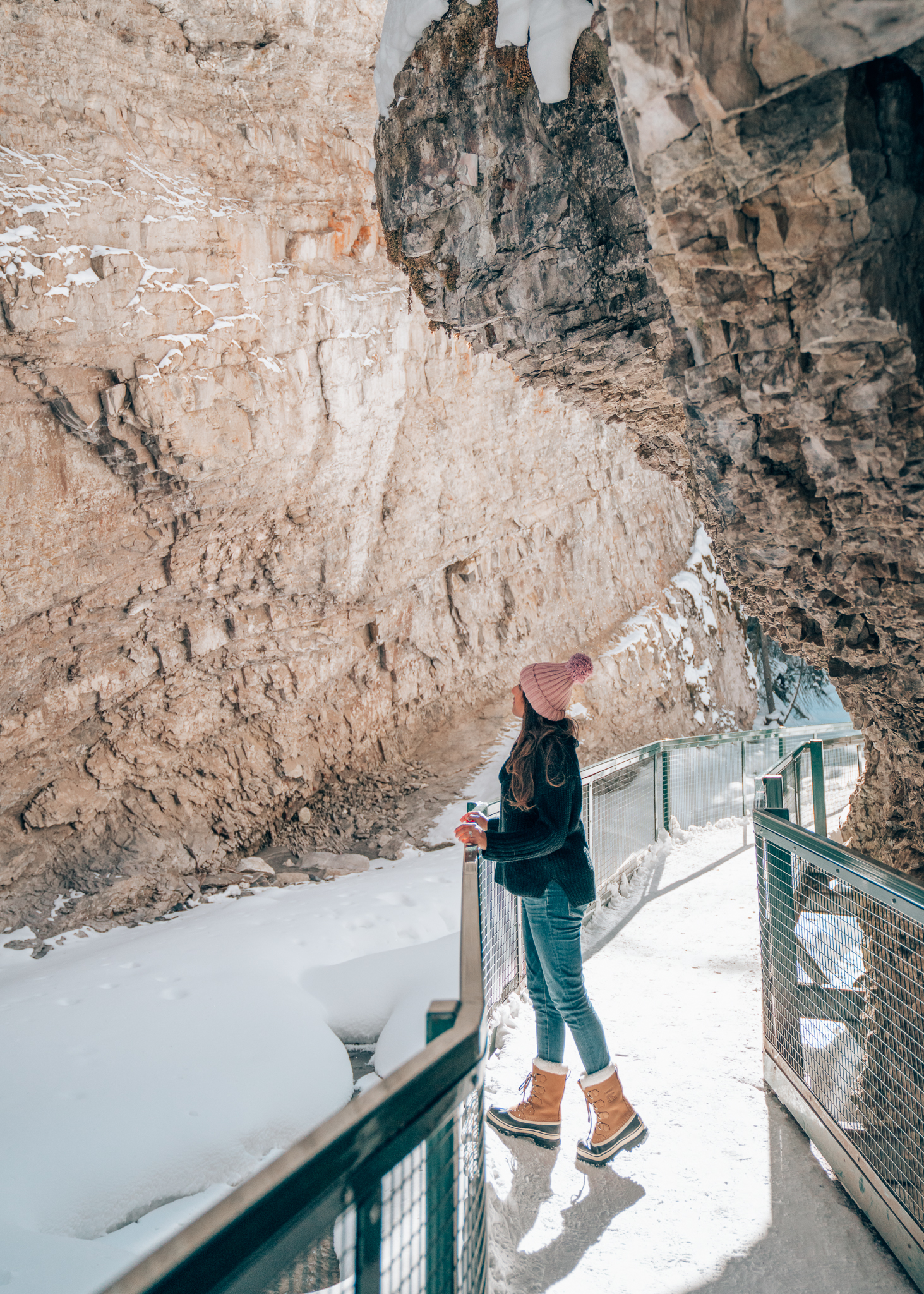 Johnston Canyon Ice Walk, Banff, Alberta