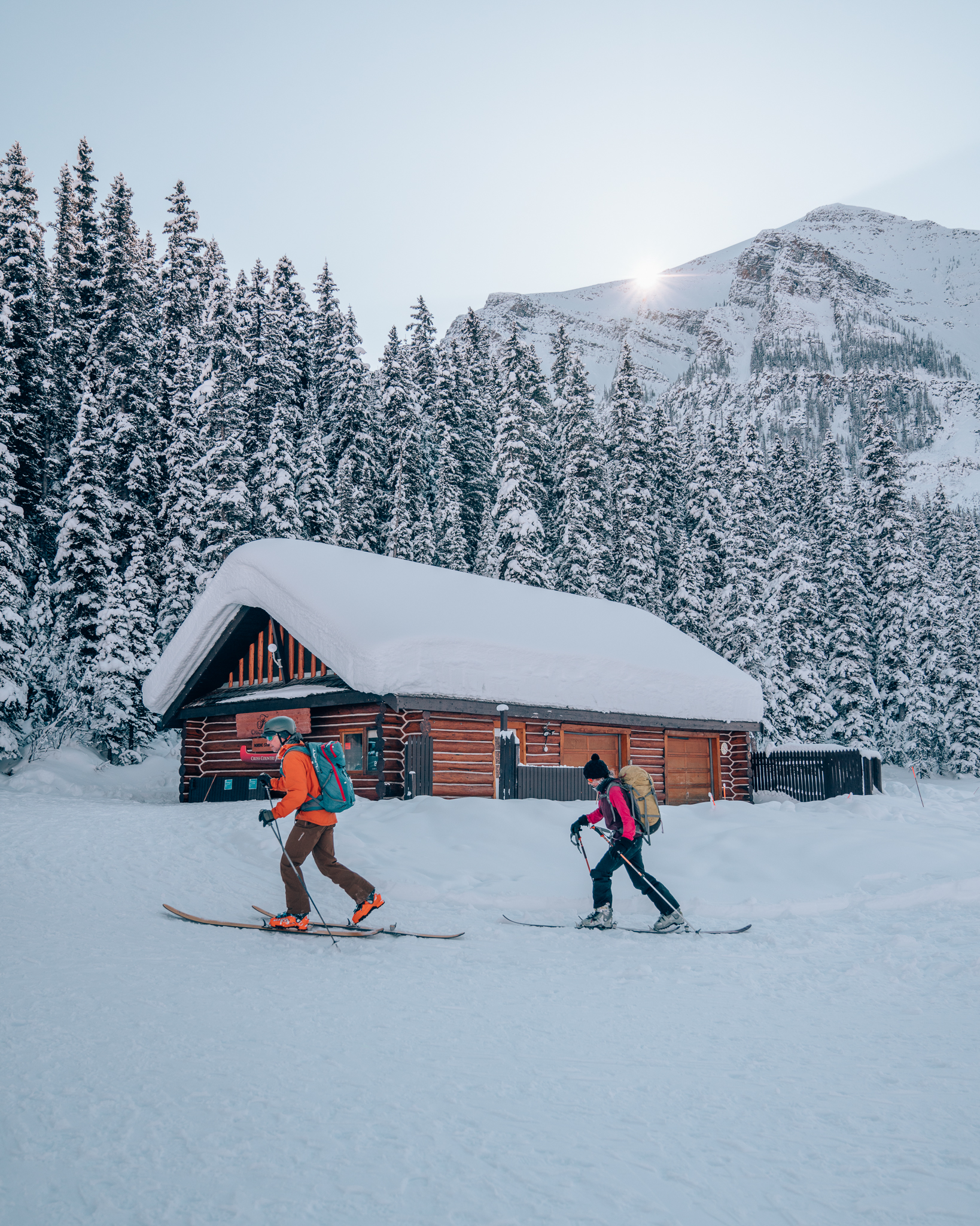 Skiing at the Fairmont Chateau Lake Louise