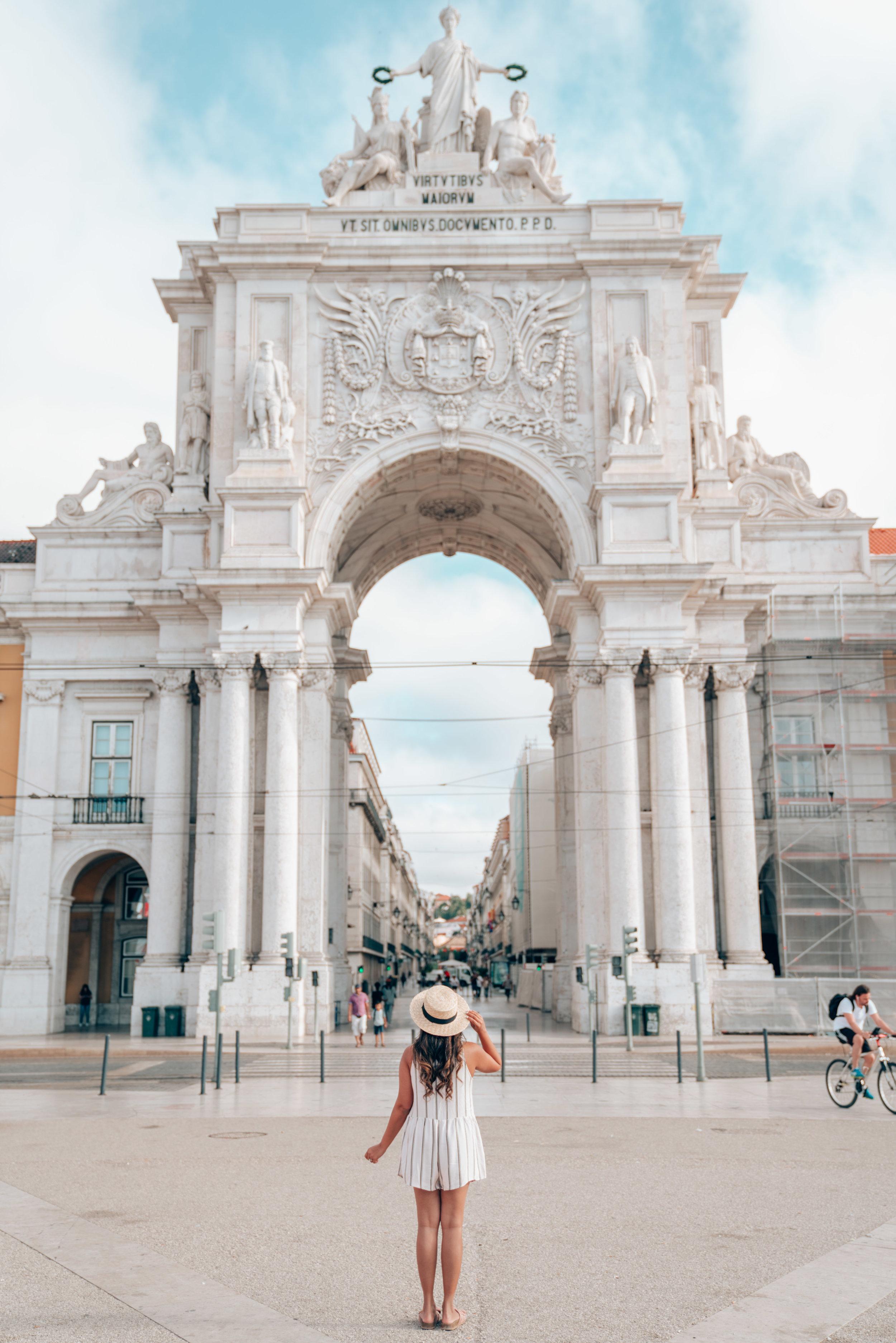 Praca do Comercio Square Lisbon Portugal