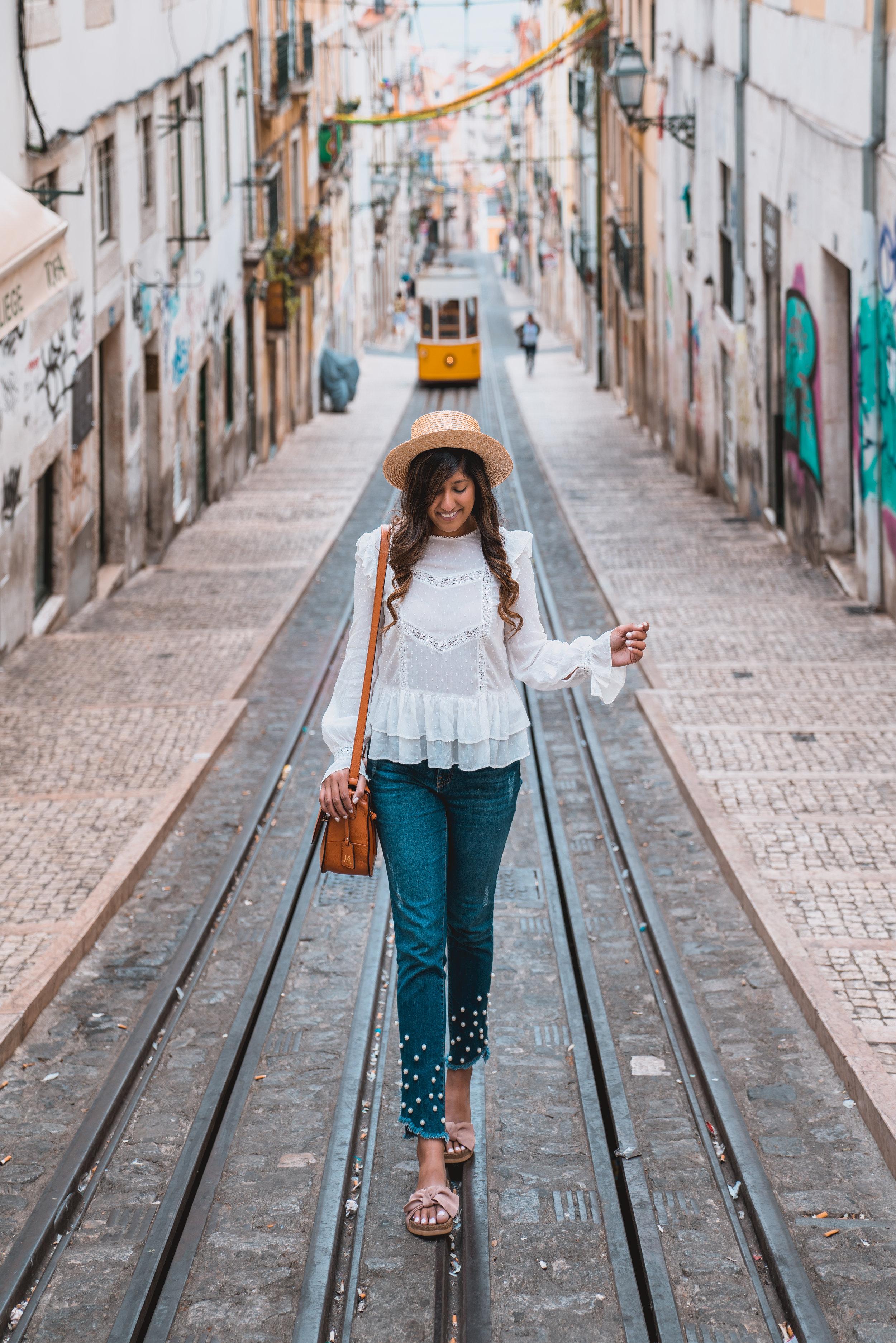 Tram 28 in Lisbon Portugal