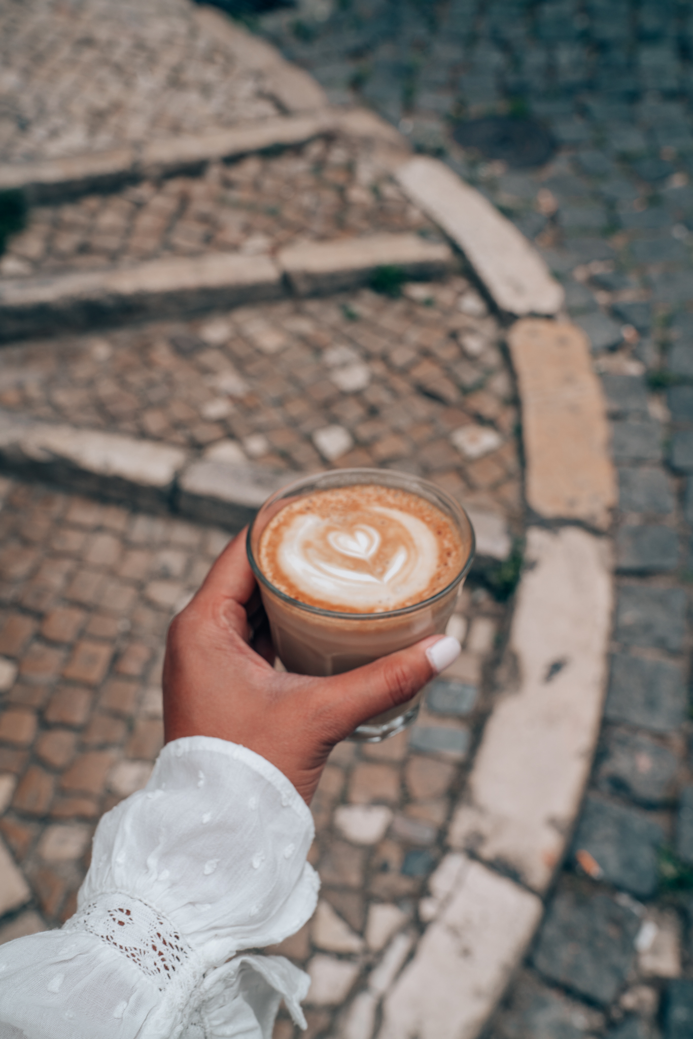Coffee Art on the Streets of Lisbon, Portugal