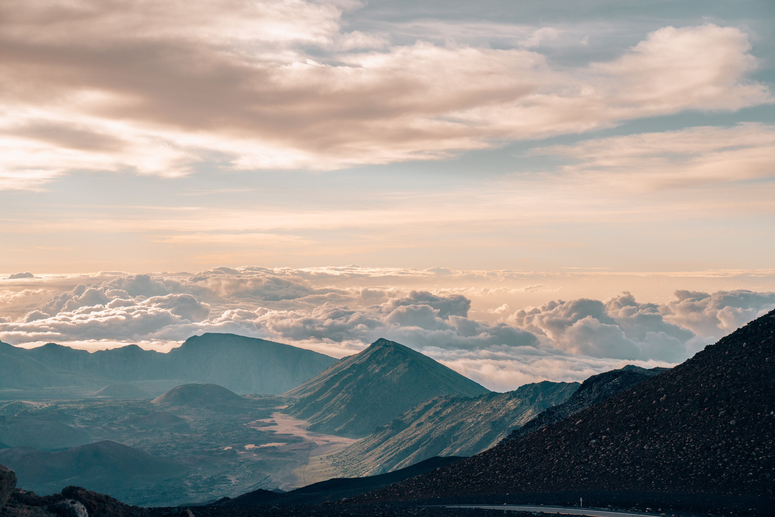 Sunrise from the Clouds at Mt Haleakala