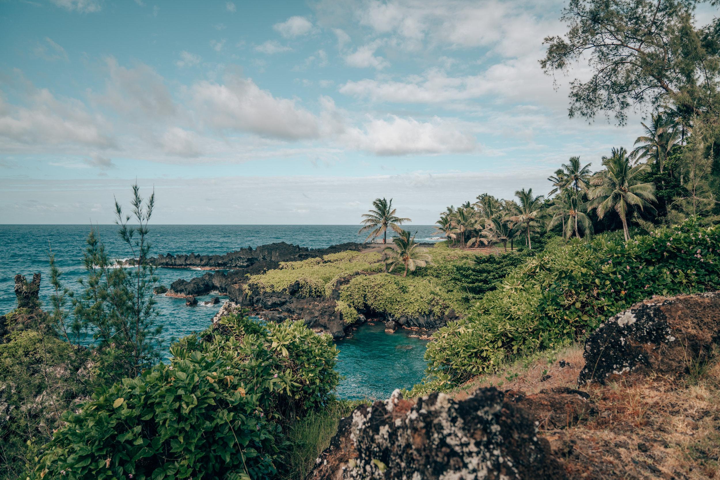 Black Sand Beach - Road to Hana - Maui, Hawaii