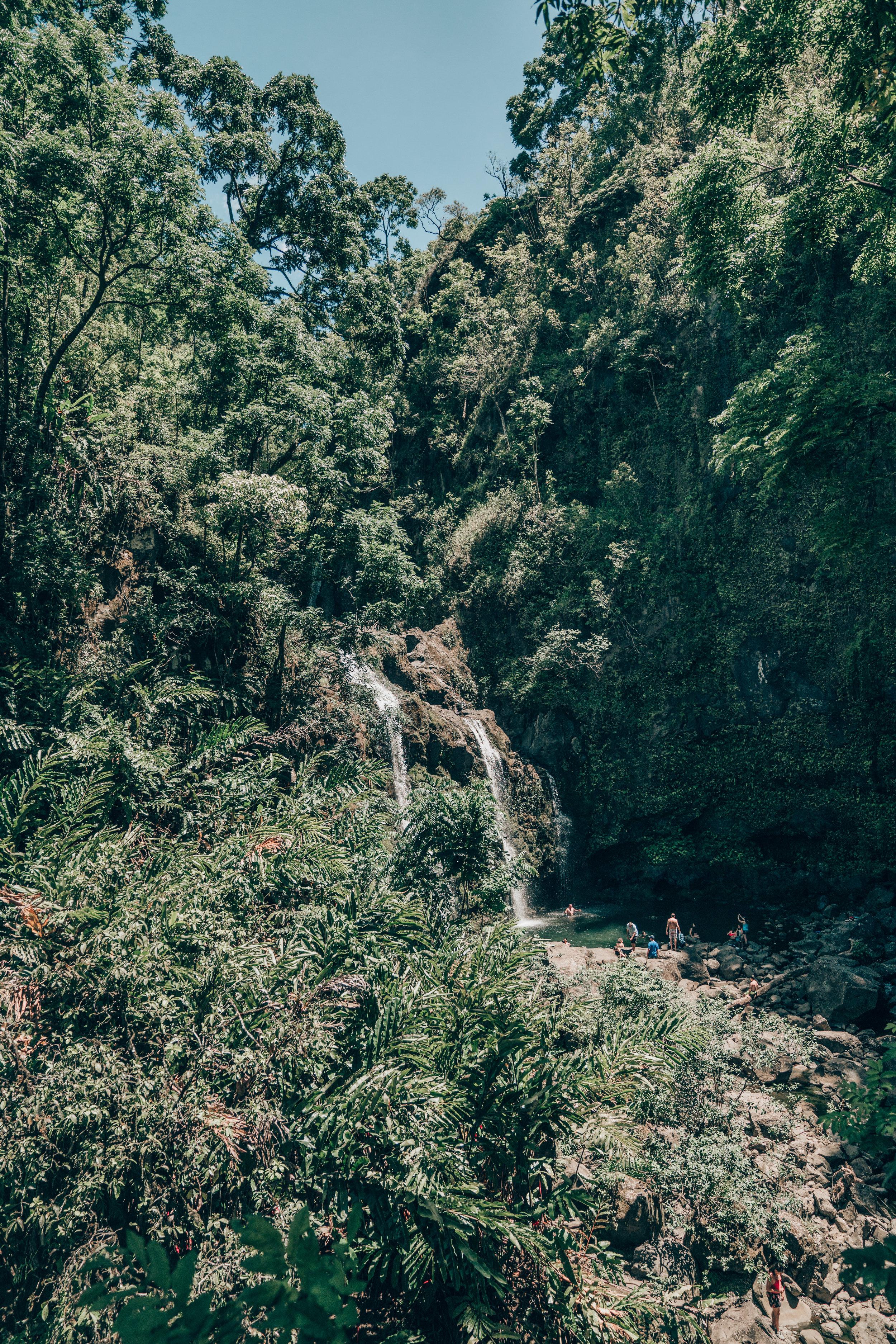 "Upper Waikani Falls aka ""Three Bears Falls"""