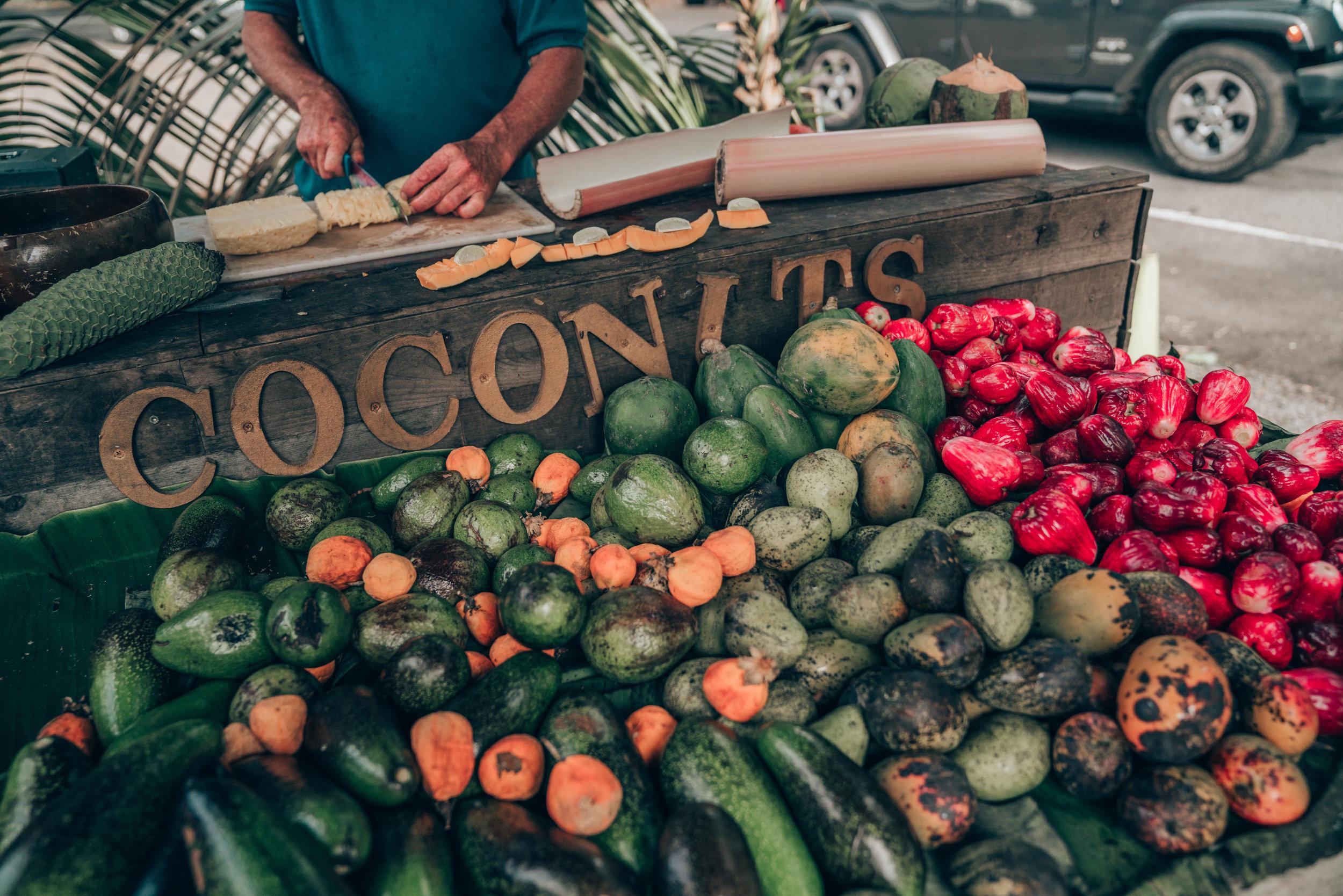 Fruit Stand on the Road to Hana - Maui, Hawaii