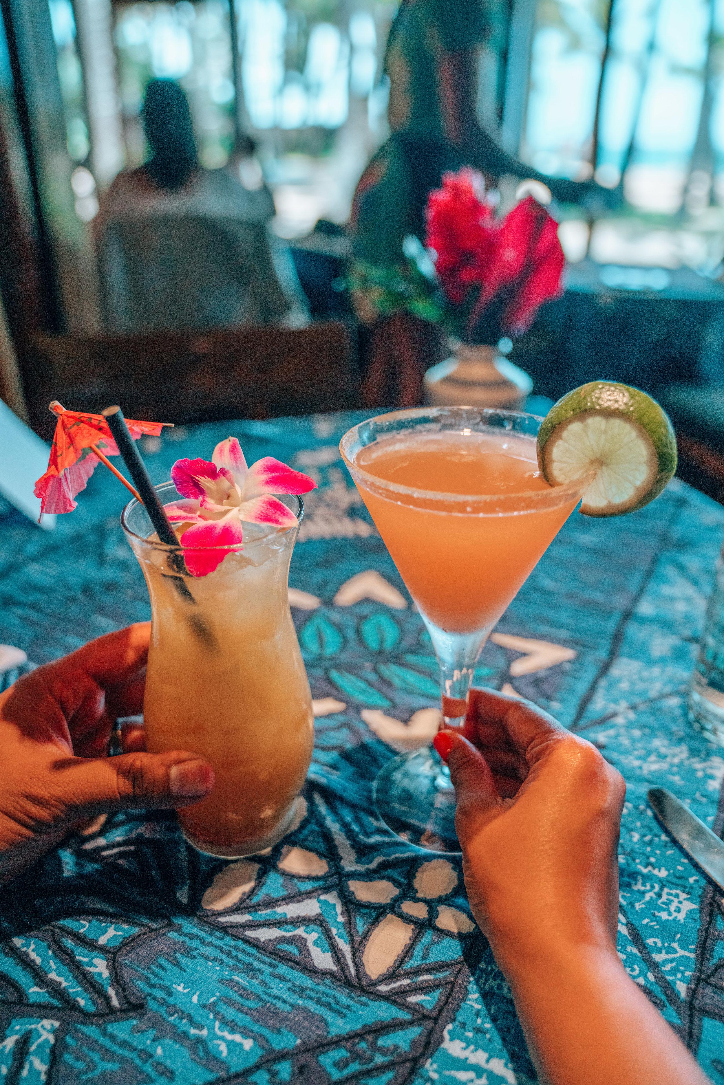 Cocktails at Mama's Fish House Maui
