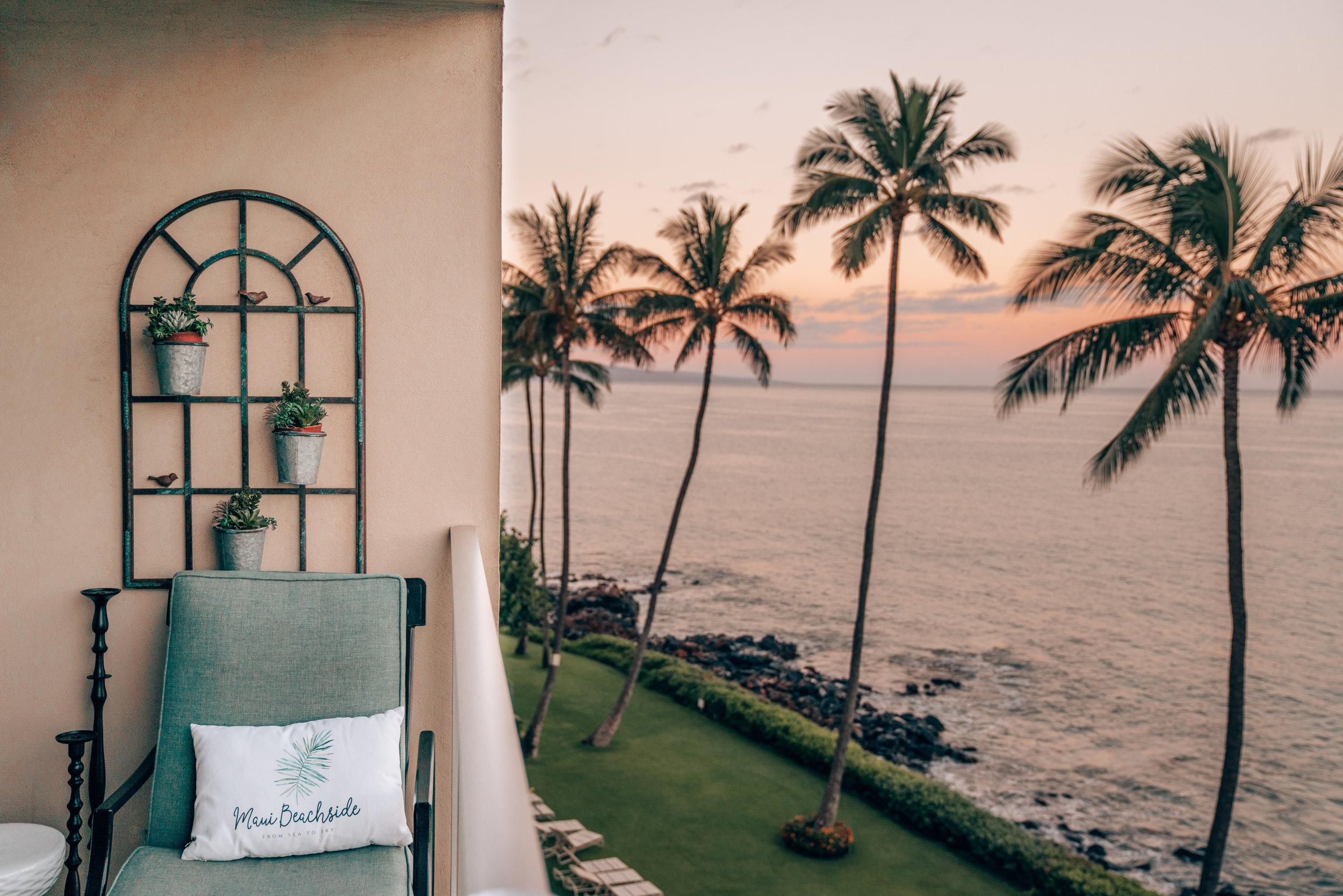 Sunset on the Lanai @  Maui Beachside