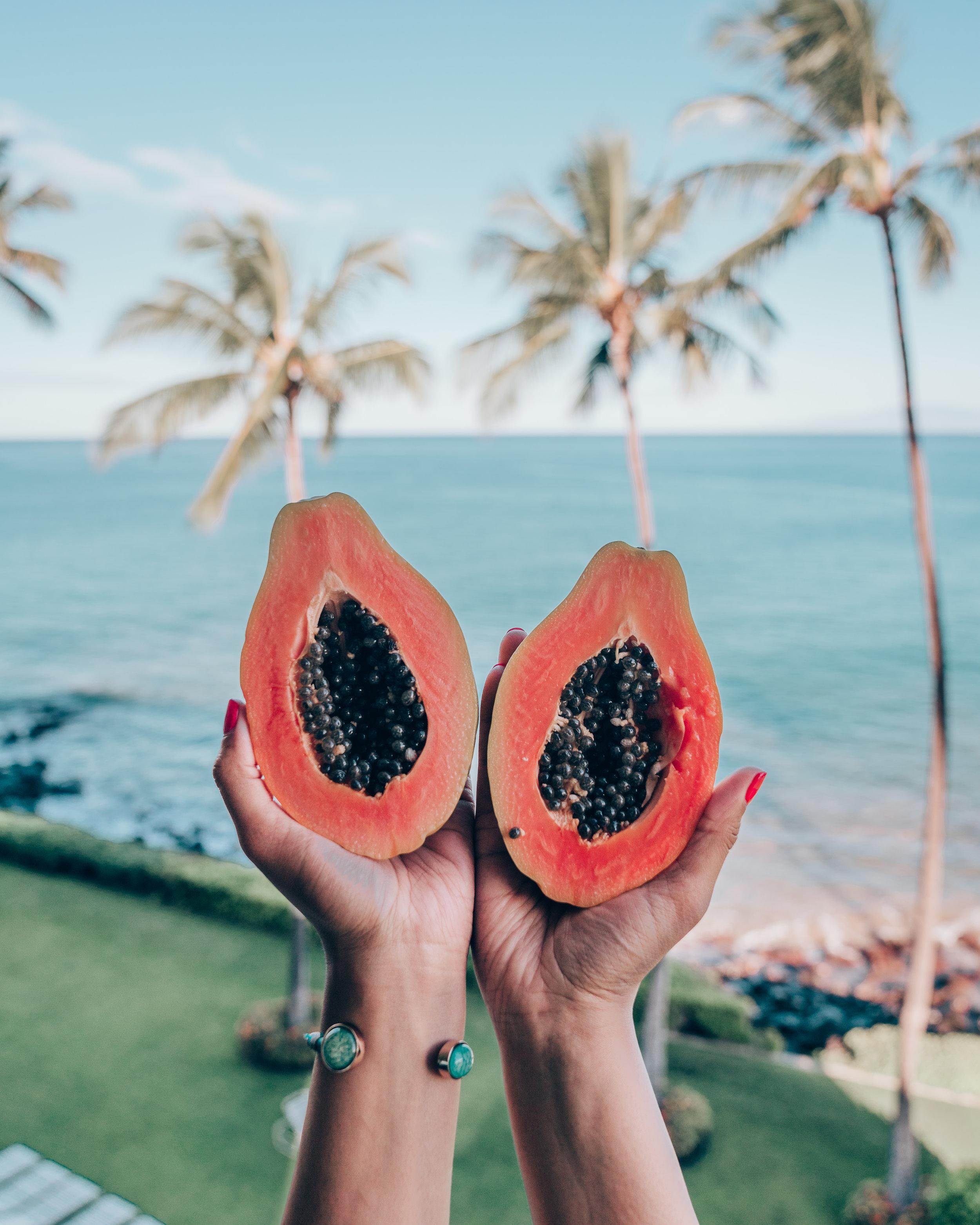 Papaya in the Air at Maui Beachside