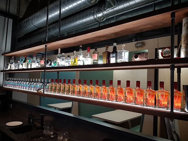 When your client part owns a gin distillery. Oregon shelves with mild steel.