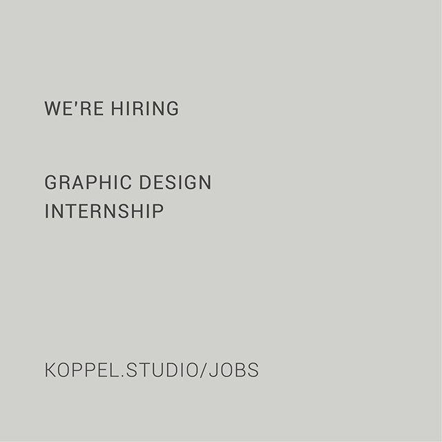Sorry, for Dutchies only. KOPPEL is op zoek naar een graphic design stagiaire. We zoeken iemand die plezier haalt uit vormgeven / designen en middels deze stage werkervaring op wilt doen in een jong en dynamisch team. Vind de hele vacature op onze website en reageer snel.