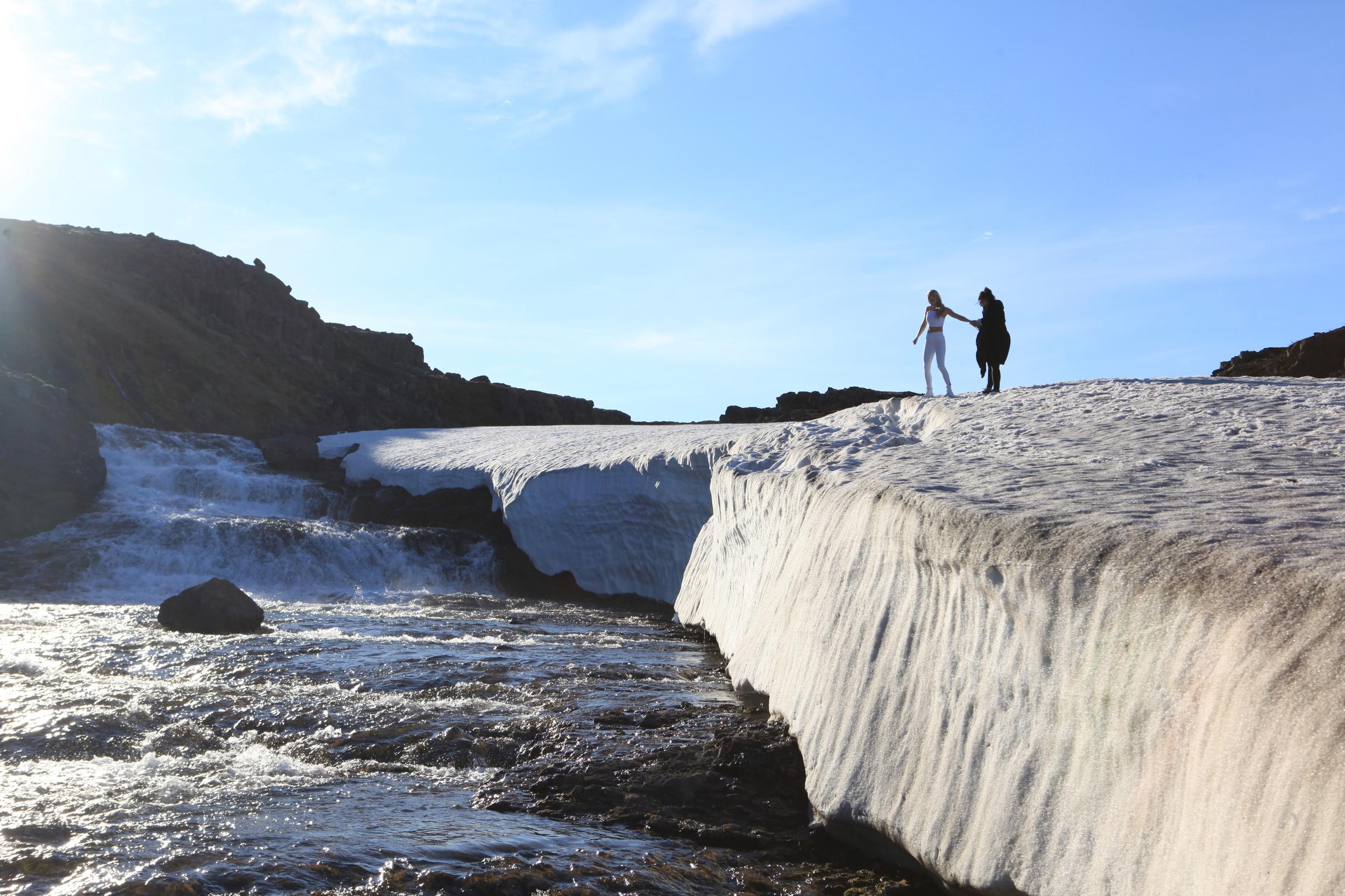 Walking the line between summer and winter