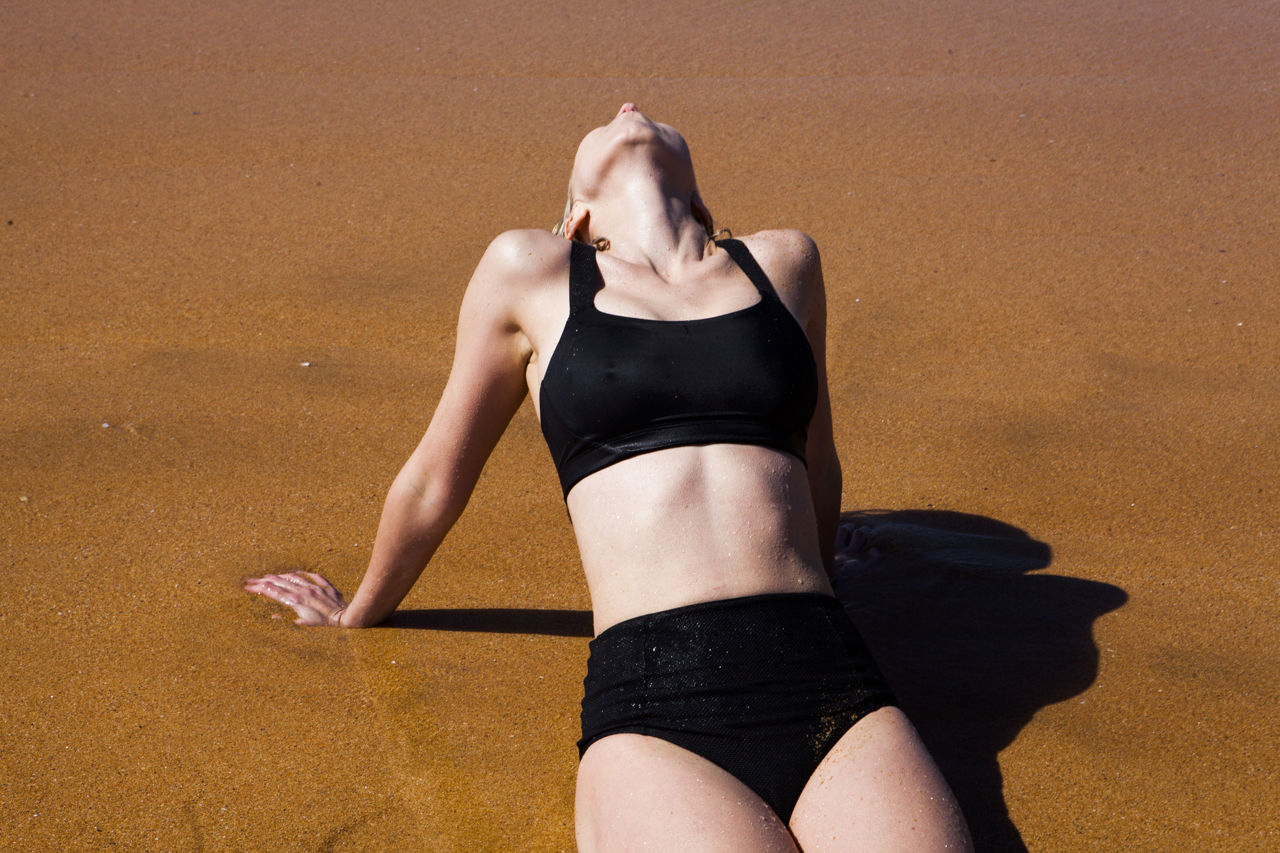 Channeling Helmut Newton (bikini Nike)