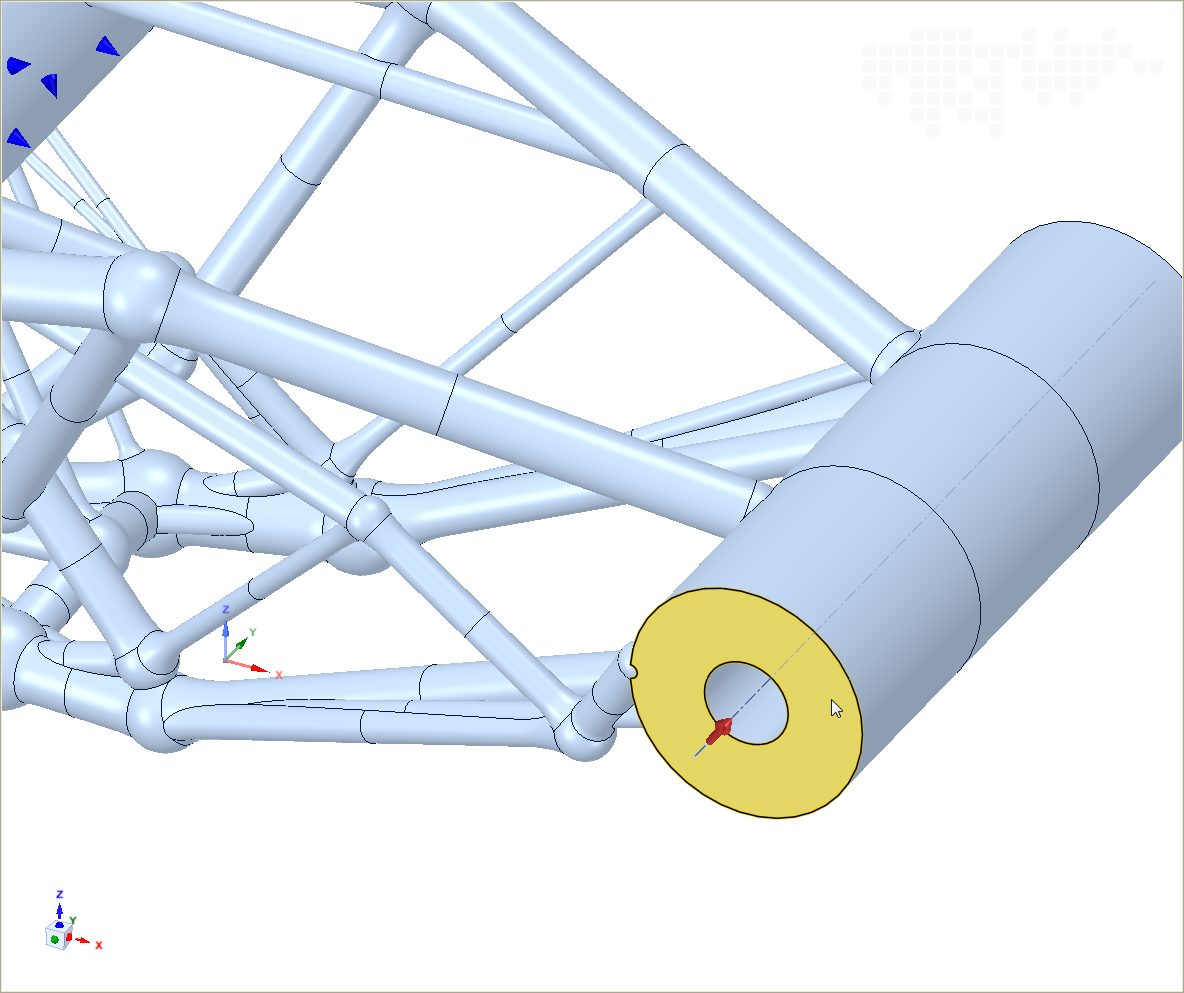 LimitState:FORM v2.0.5 allows the specification of loads along the axis of a cylinder
