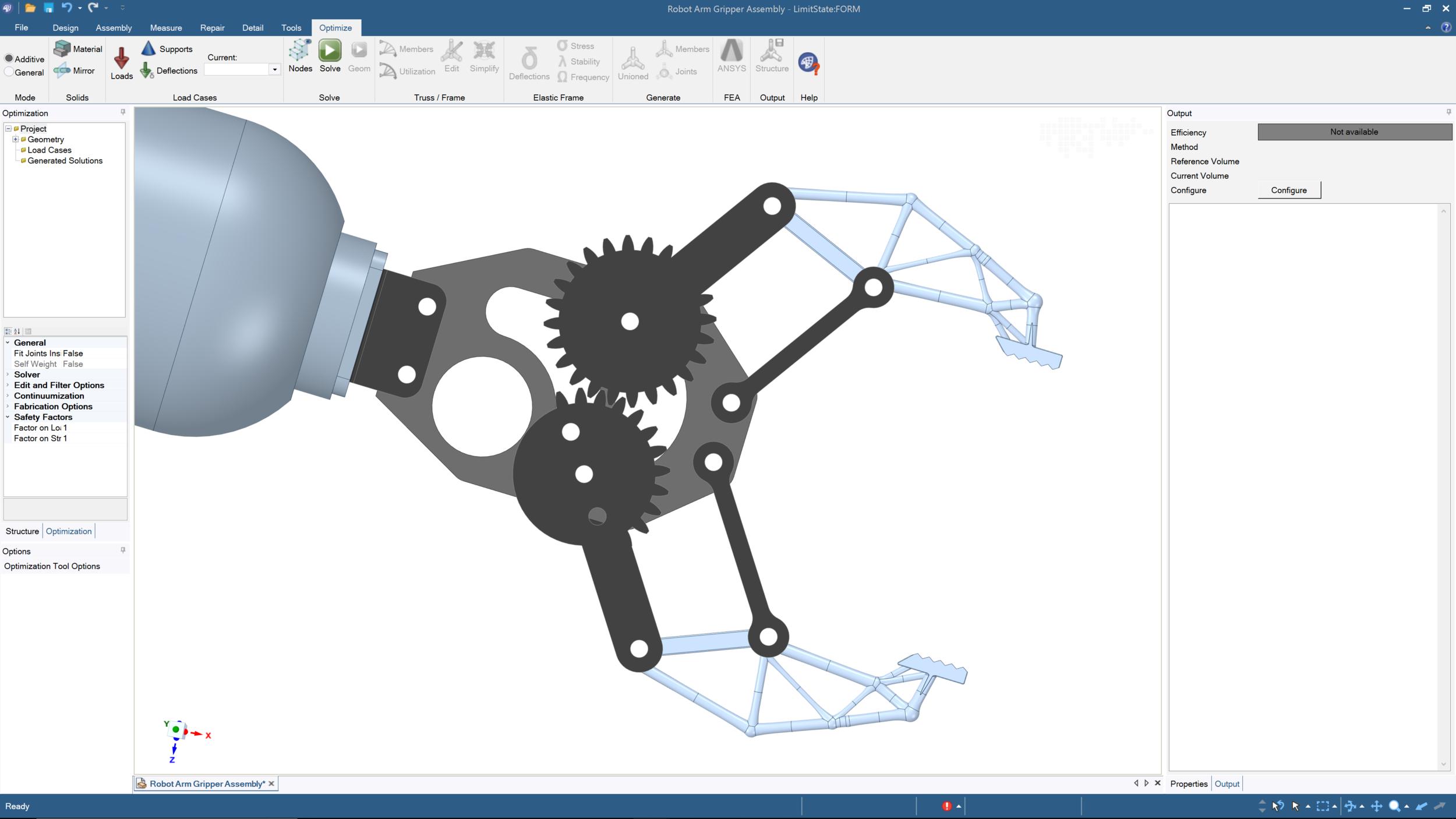 Optimized component in situ