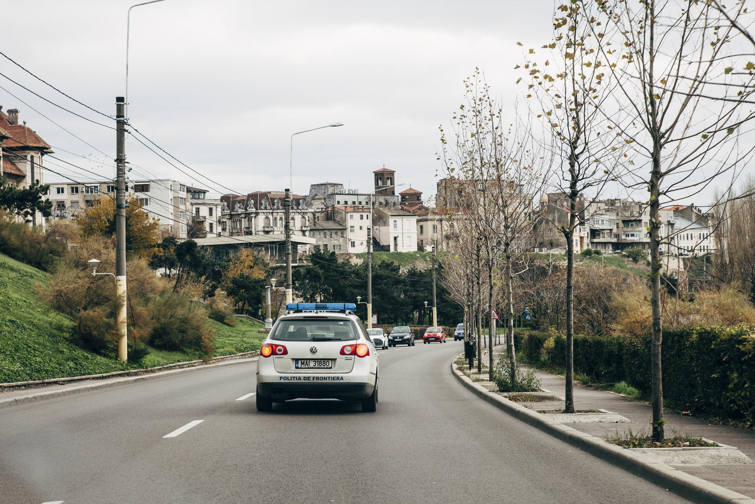 Fahrt zum Hafen Constanta