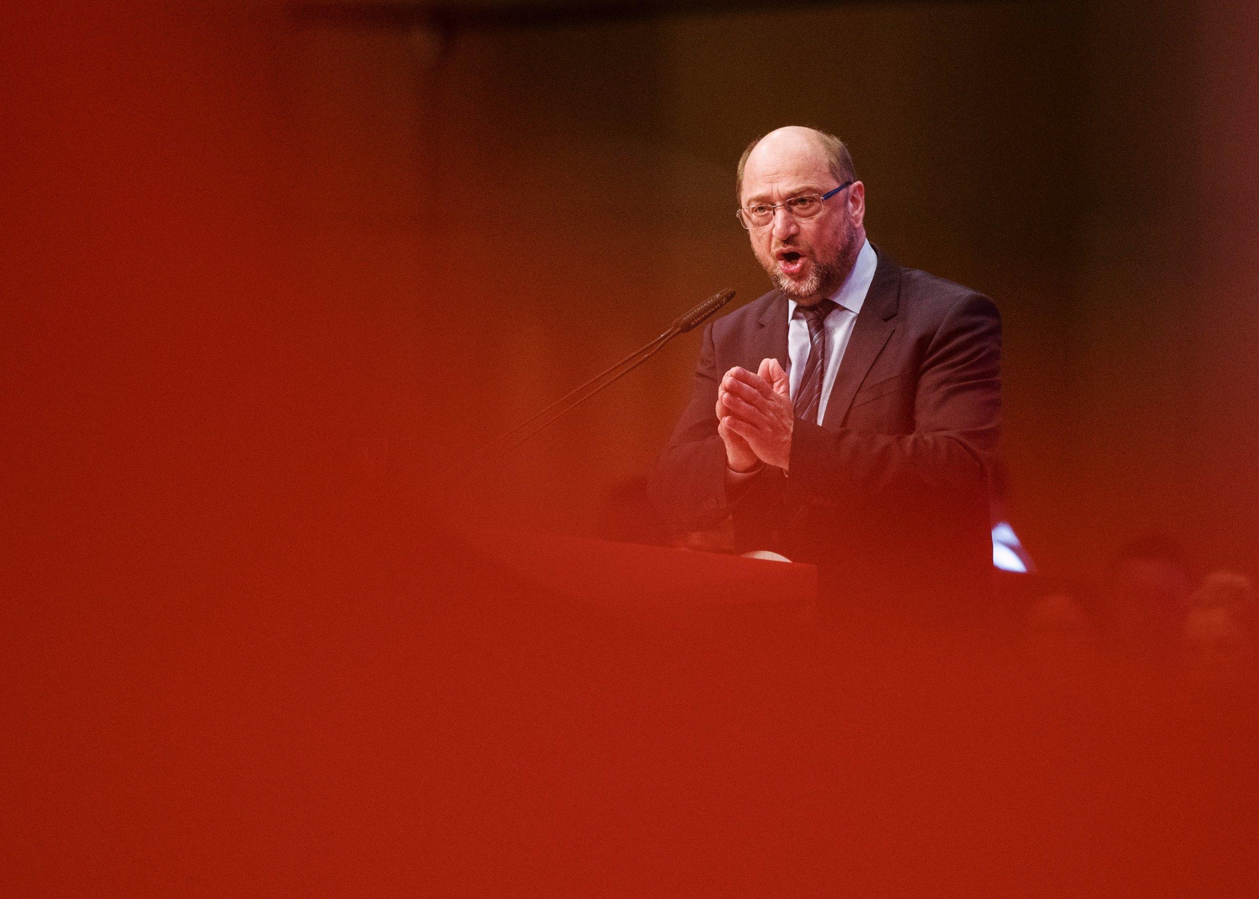 Martin Schulz redet auf dem Außerordentlichen Bundesparteitag der SPD.