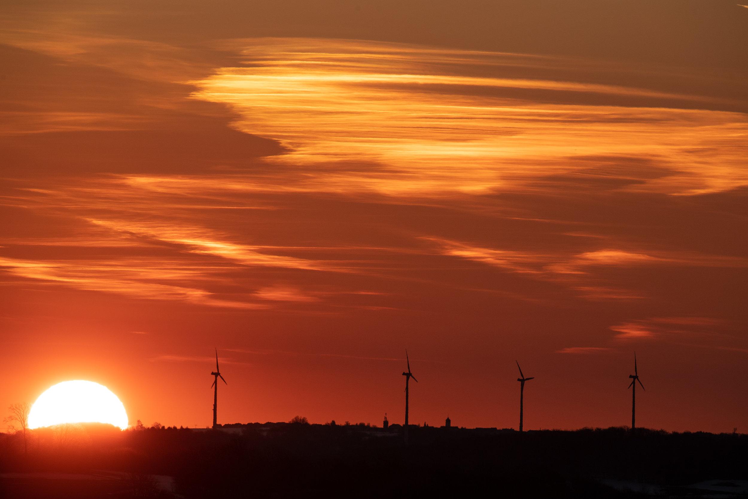 Sonnenaufgang in der Schwäbischen Alb