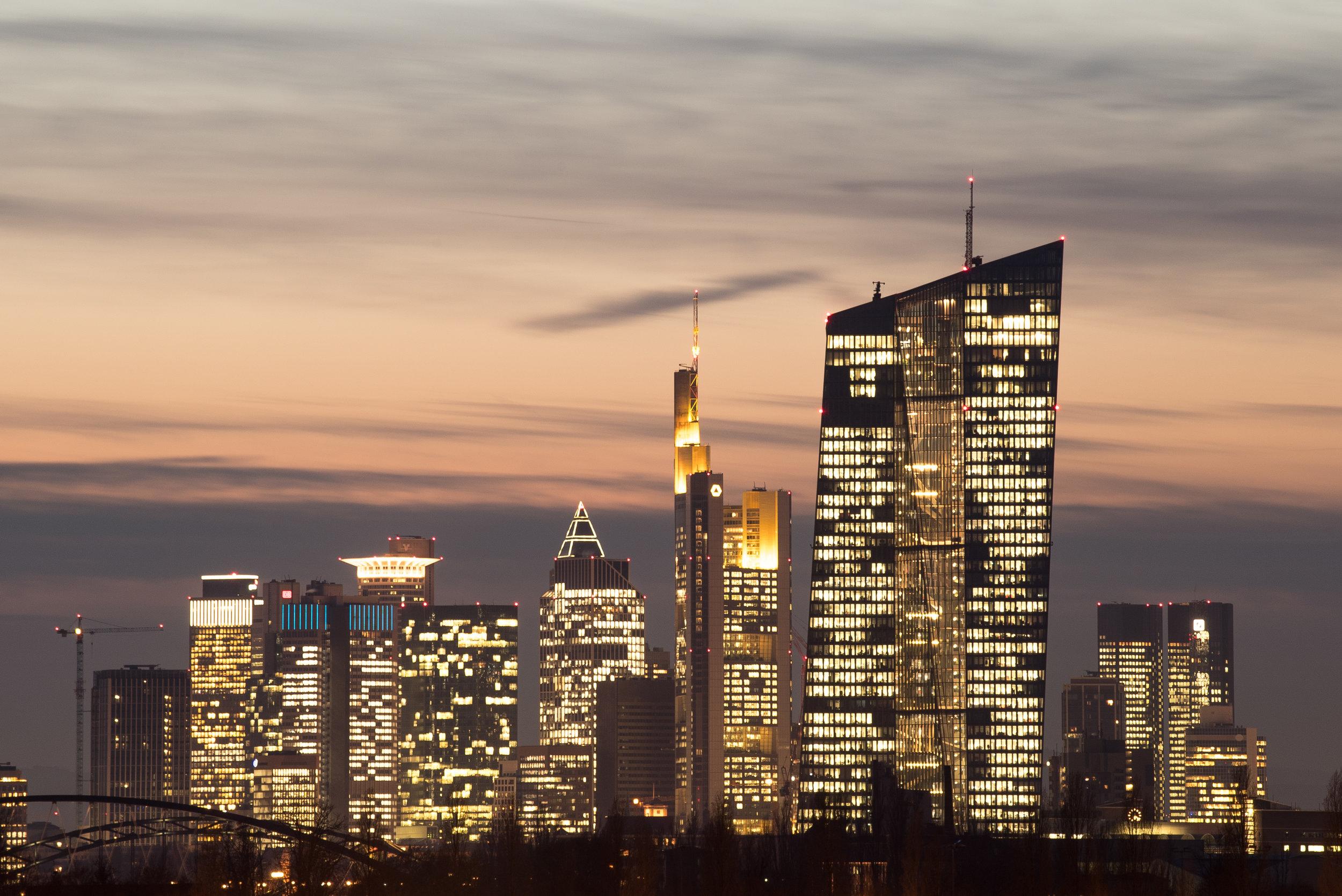 Bankenskyline Frankfurt.