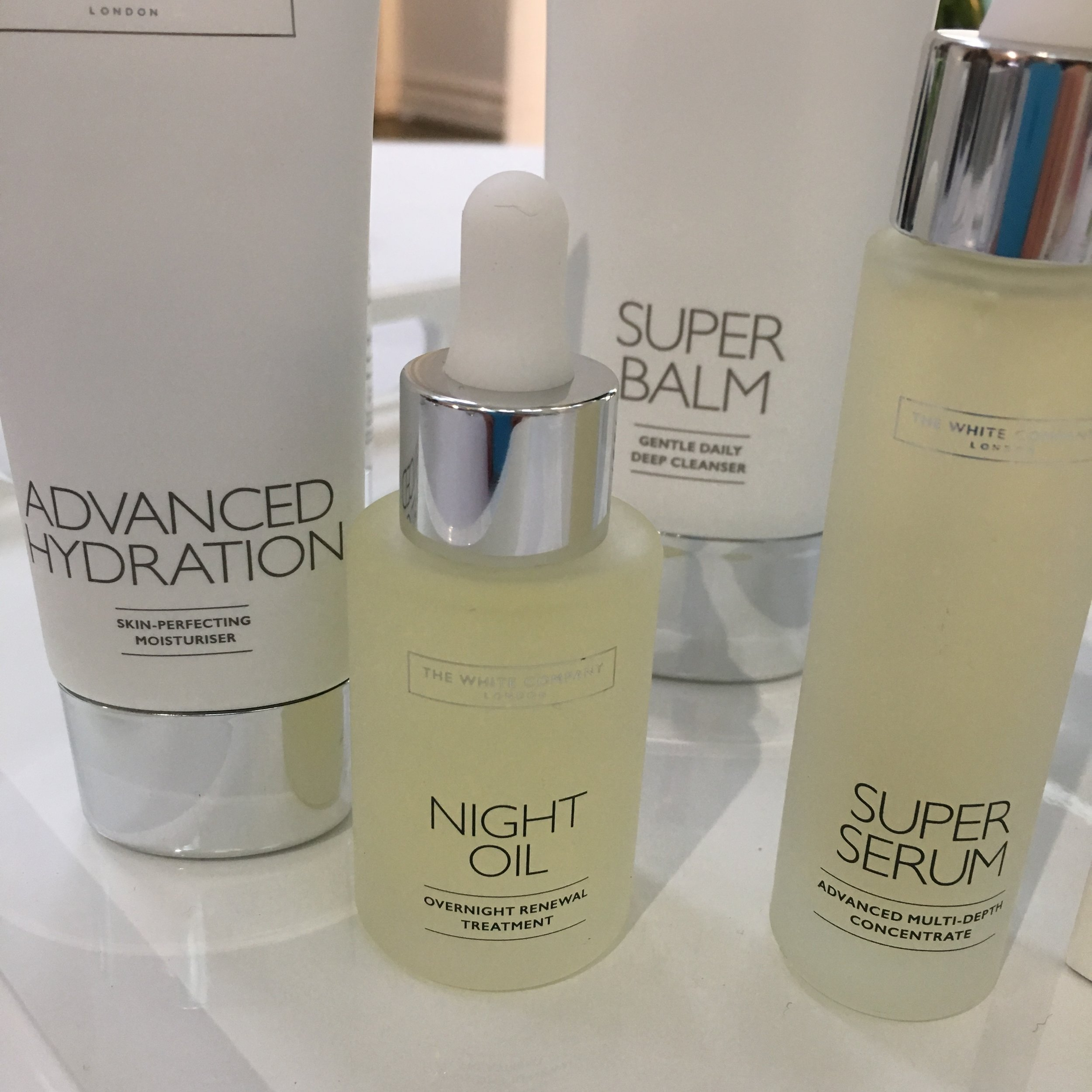 There are just five products in The White Company facial skincare range - these plus the eye cream
