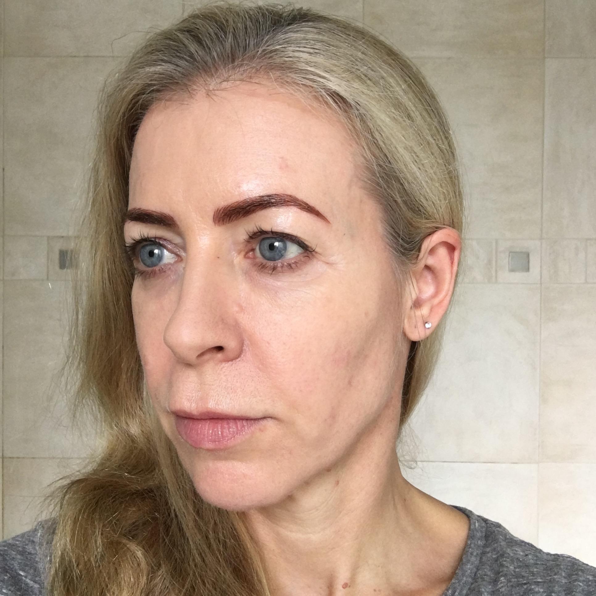 Eyebrow microblading - 10 days afterwards, looking good.