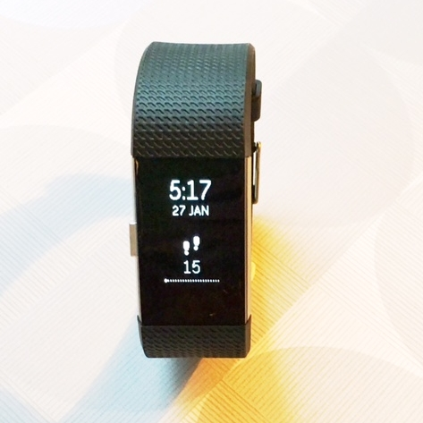 My fourth Fitbit - when it was brand spanking new in January