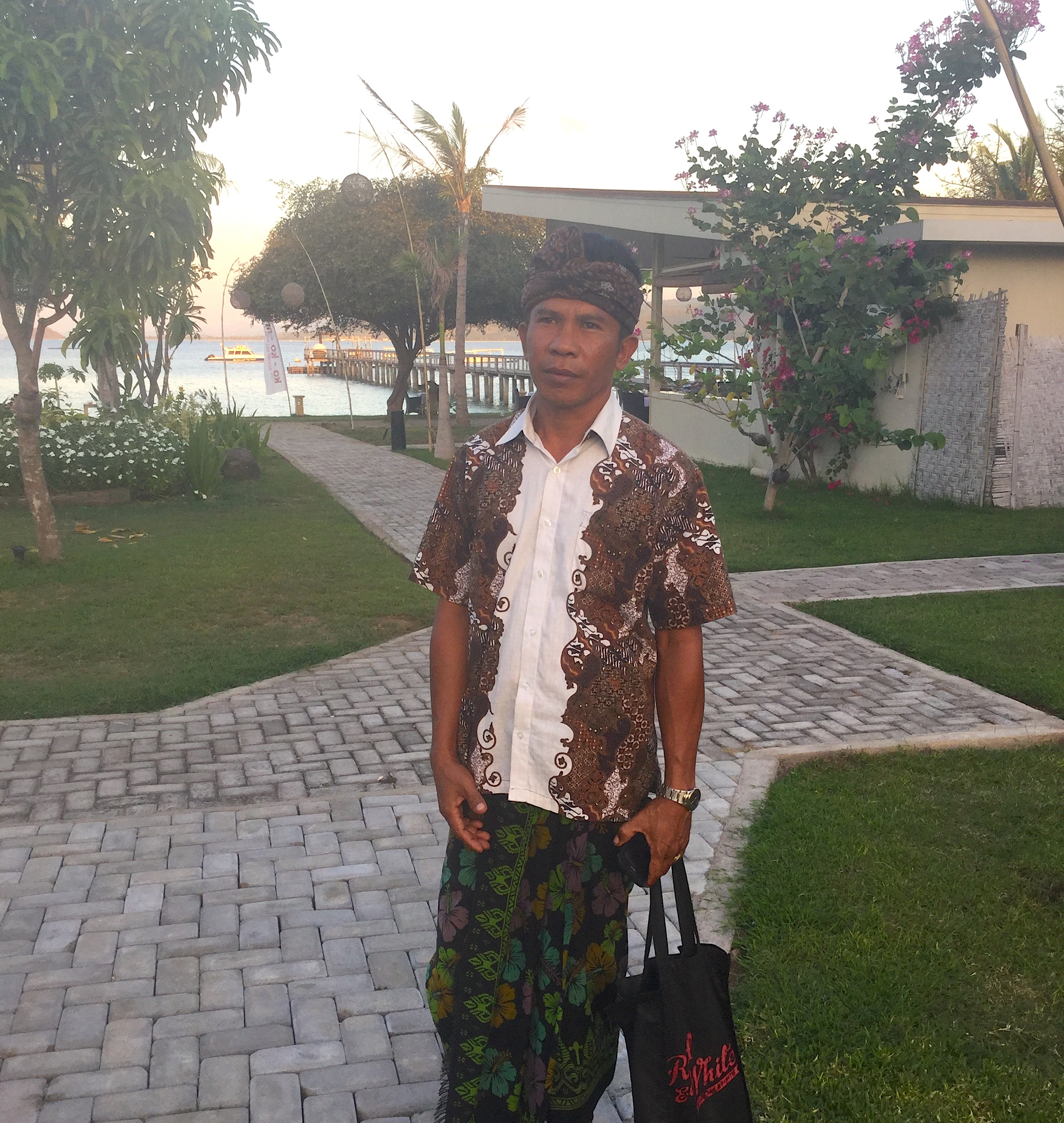 Mr Amat, the exceptional masseur/healer at Kokomo Gili Gede