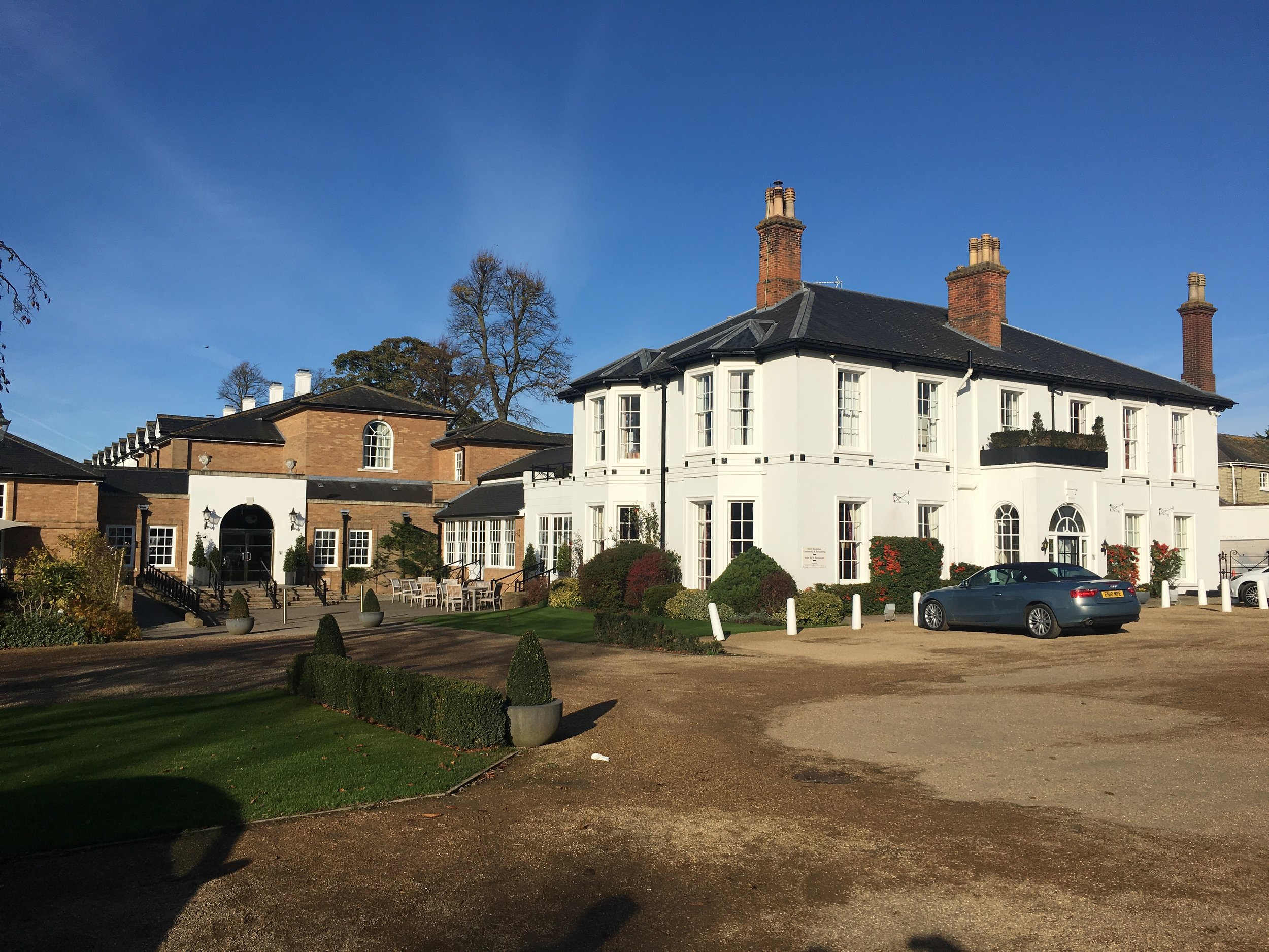 The Bedford Lodge Hotel, outside Newmarket in Suffolk