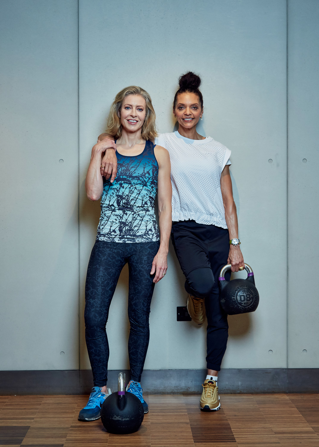 With top personal trainer Efua Baker, photograph by Chris McAndrew at KXU