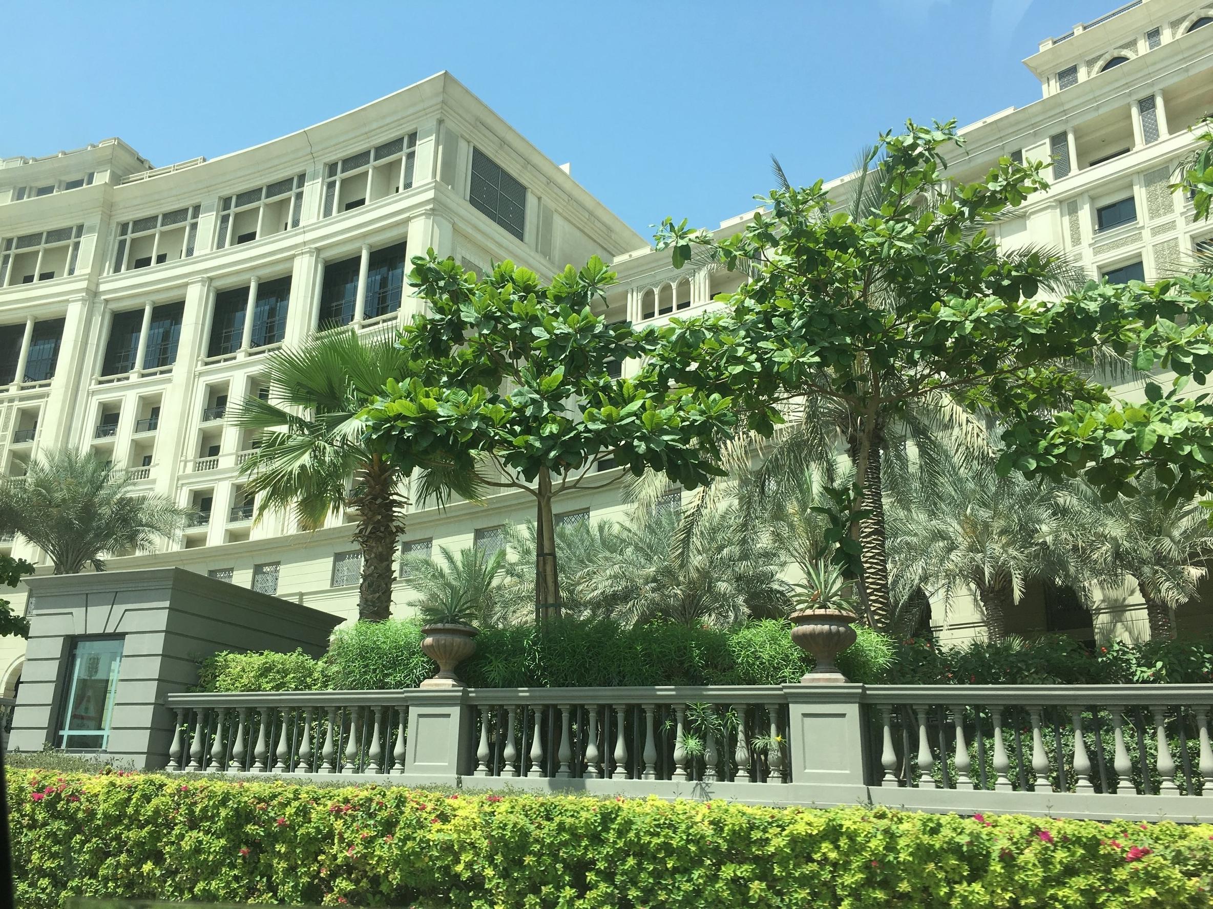 Arriving at the Palazzo Versace Dubai