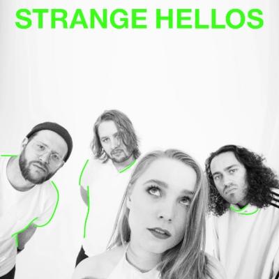 Strange Hellos er Odd Martin Skålnes (O. Martin, Aurora) Birgitta Alida Hole (Lumikide), Fredrik Vogsborg (The Megaphonic Thrift, Casiokids) og Even Kjelby (Great News). Stor lyd, catchy melodier, drømmende vokal og skitne gitarer er hovedfokus.