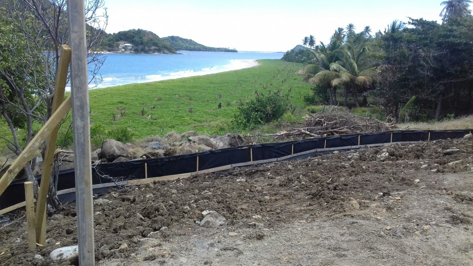 Silt Fence Completed