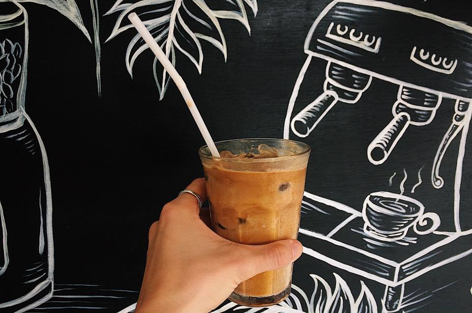 Iced lattes at  Monkey Cave Espresso