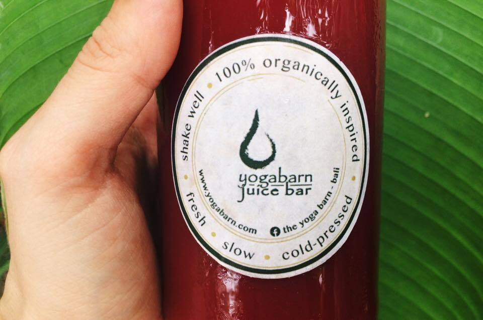 Daily fresh juices from  The Yoga Barn Juice Bar