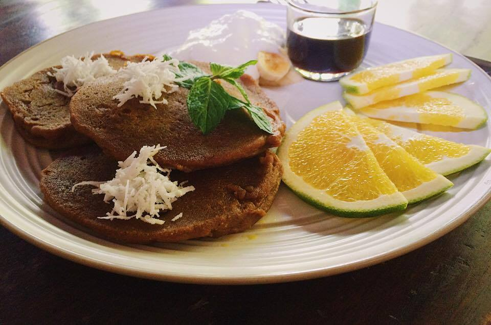 Pumpkin spiced pancakes from  Soma