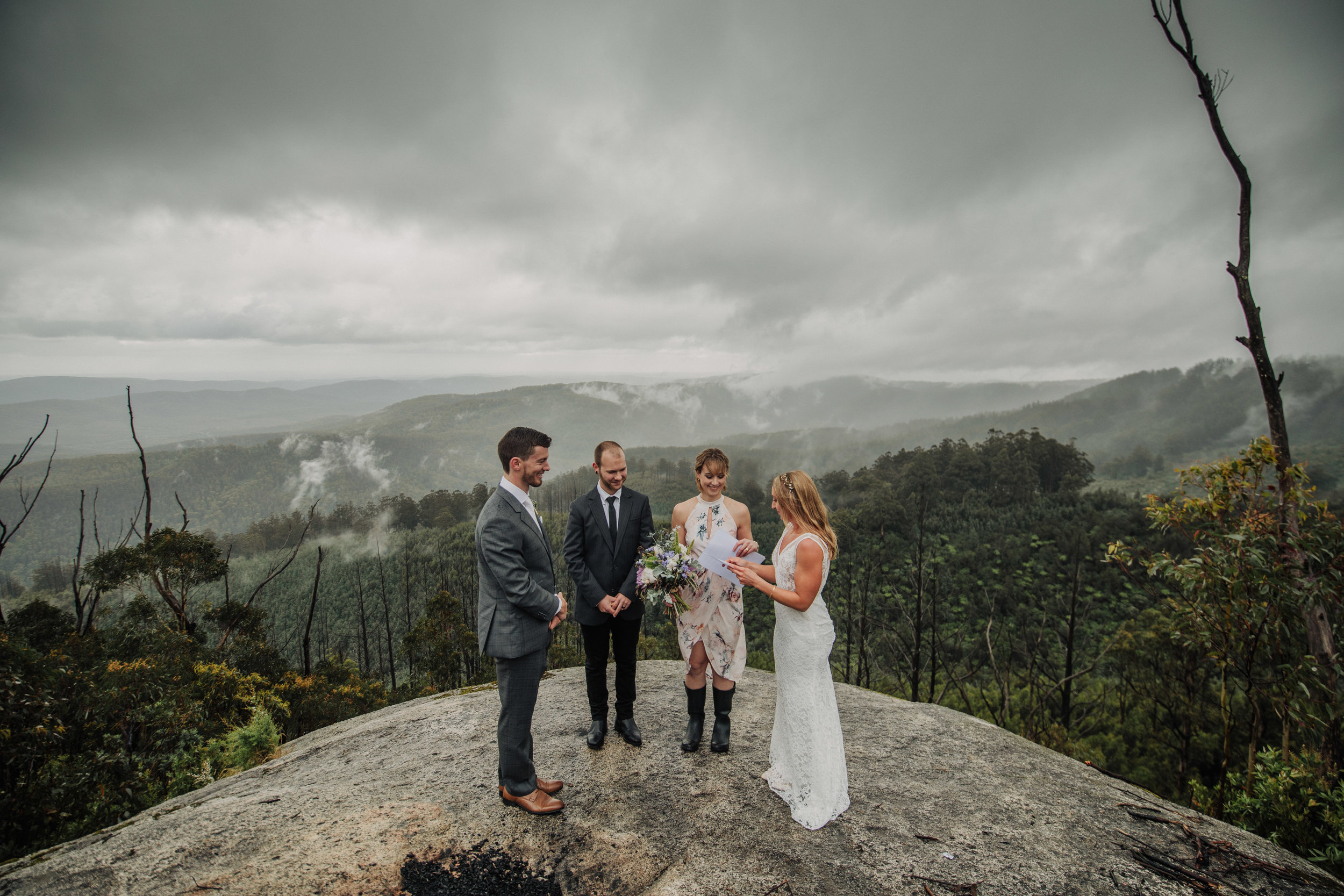 View Sonya & Jake's Intimate Mountain Top Elopement