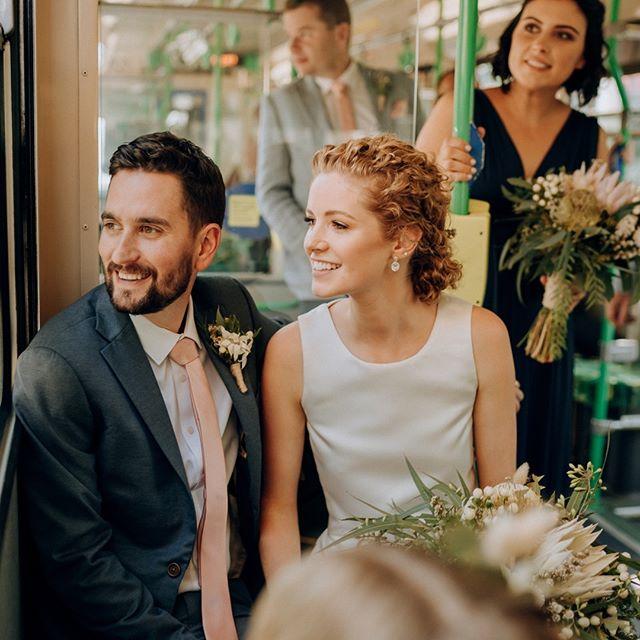 Who needs wedding cars? @yarratrams {Nicole + Frank} by #blwalex . . . . . . . . #weddingphotography #weddingphotographer #weddinginspo#melbourneweddingphotographer #melbournewedding #melbourneweddingphotography#melbournebride