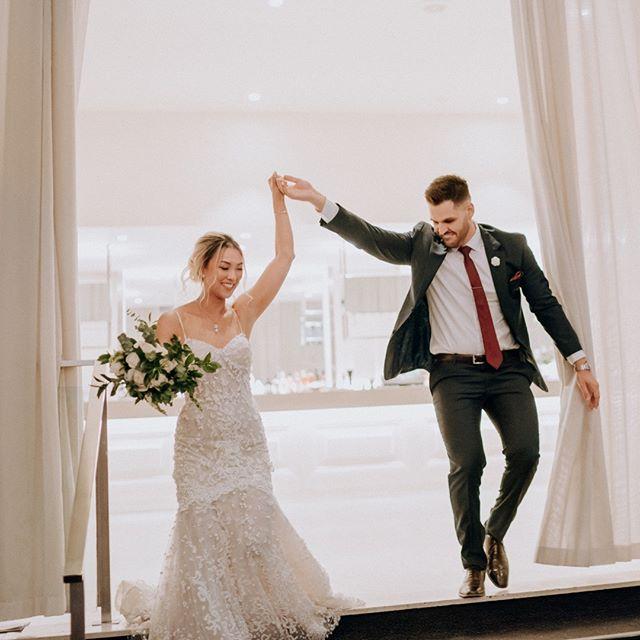 Let the party…BEGIN! {Quinn + Jamal} by #blwalex  Make up @kitrinavu Reception @leondabytheyarra . . . . . . . #weddingphotography #weddingphotographer #weddinginspo#melbourneweddingphotographer #melbournewedding #melbourneweddingphotography#melbournebride