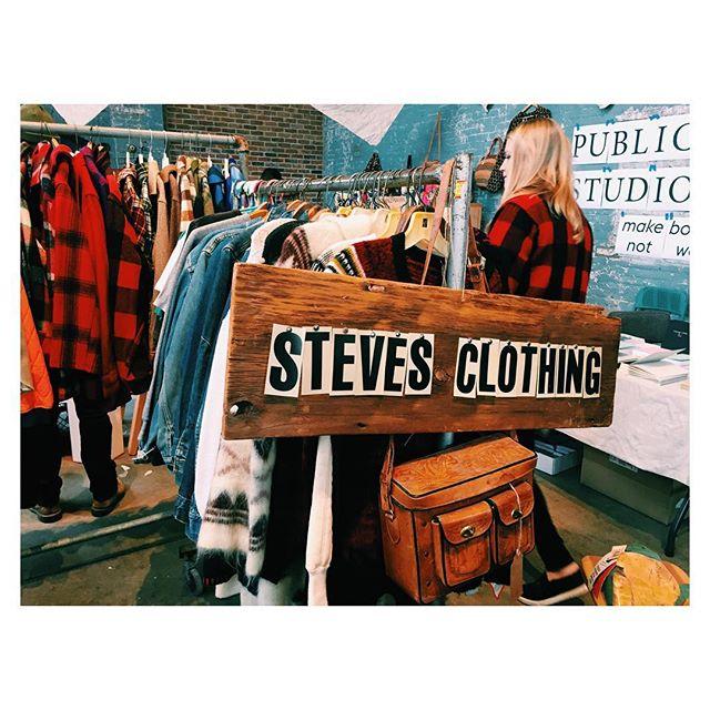 Flannel and sweater sale at the basilica farm and flea #checkit #basilicahudson #basilicafarmandflea #onlythebestfinds #stevesclothing #vintage  #slowfashionmovement #hudsonny #market #fleamarket #stevesclothing