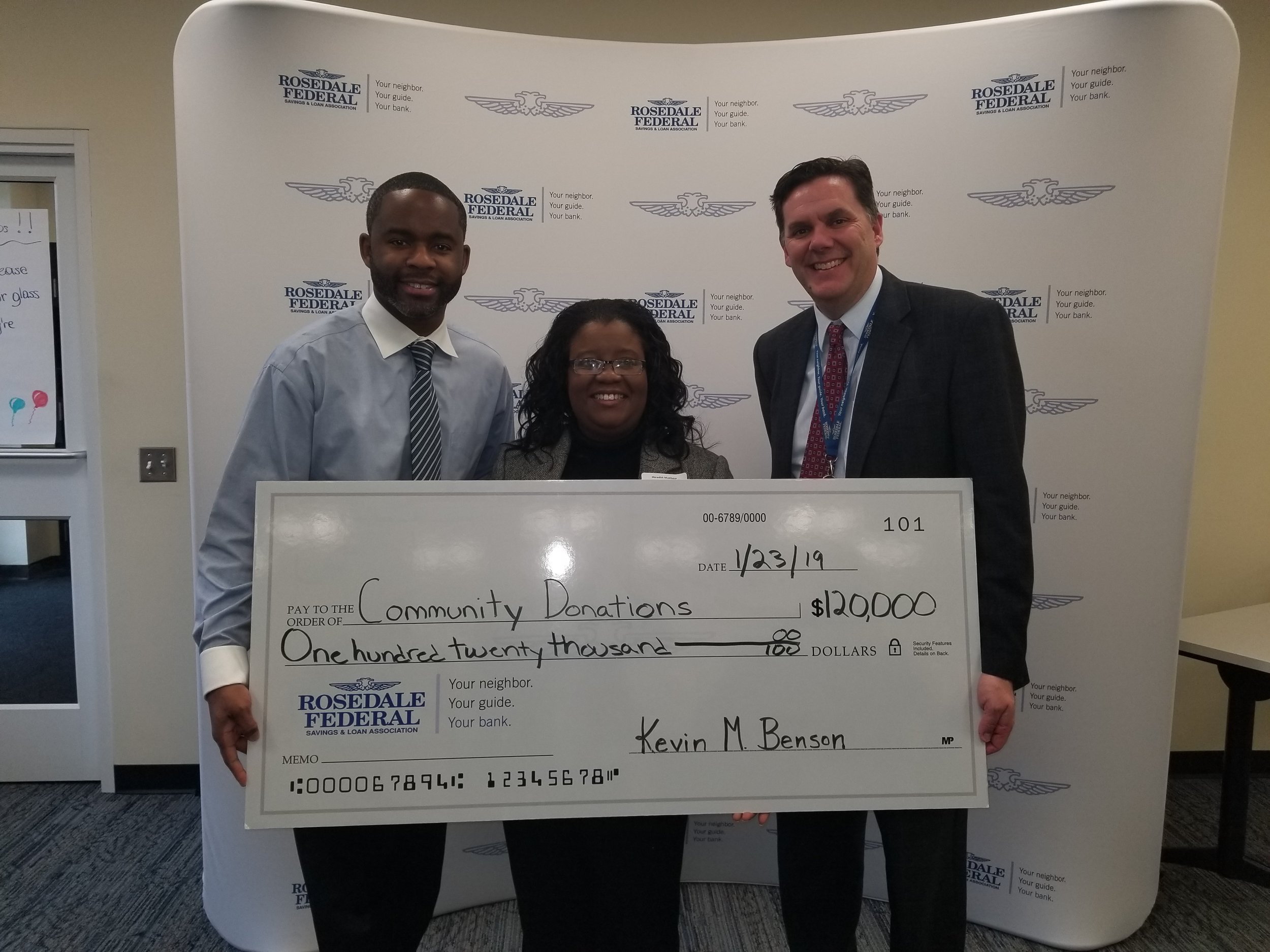 Rosedale Federal is Committed to Expanding Housing Opportunity in Harford County - Corporate philanthropy is a mark of leadership that is often sacrificed in challenging economic times. Home Partnership Inc. would like to thank Rosedale Federal for their continued commitment to support of our mission and programs.  Jan 2019