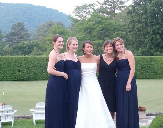 The Bride and Bridesmaids! (Luckily not pictured our identical dress!)